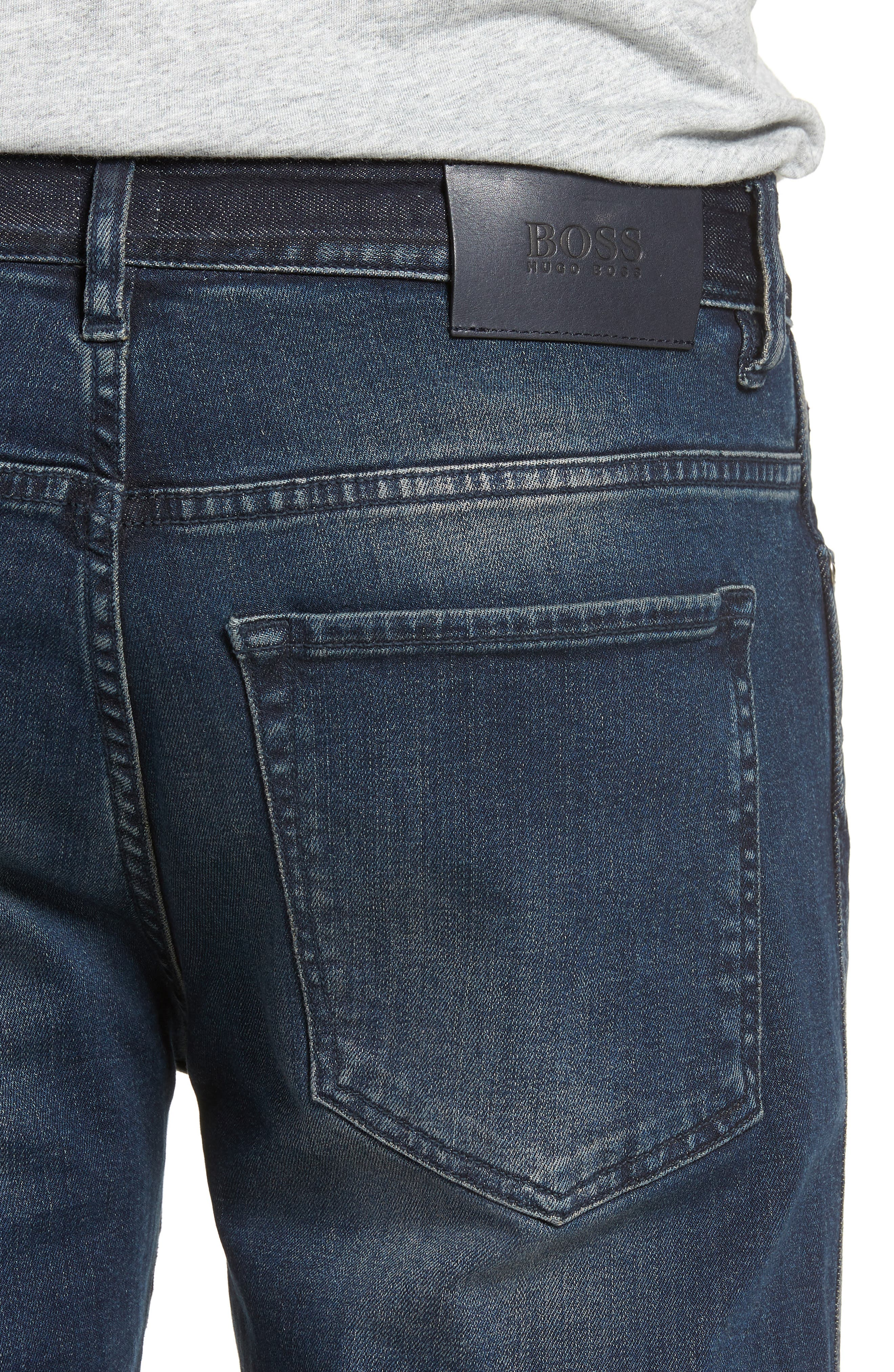 Delaware Slim Fit Jeans,                             Alternate thumbnail 4, color,                             Blue