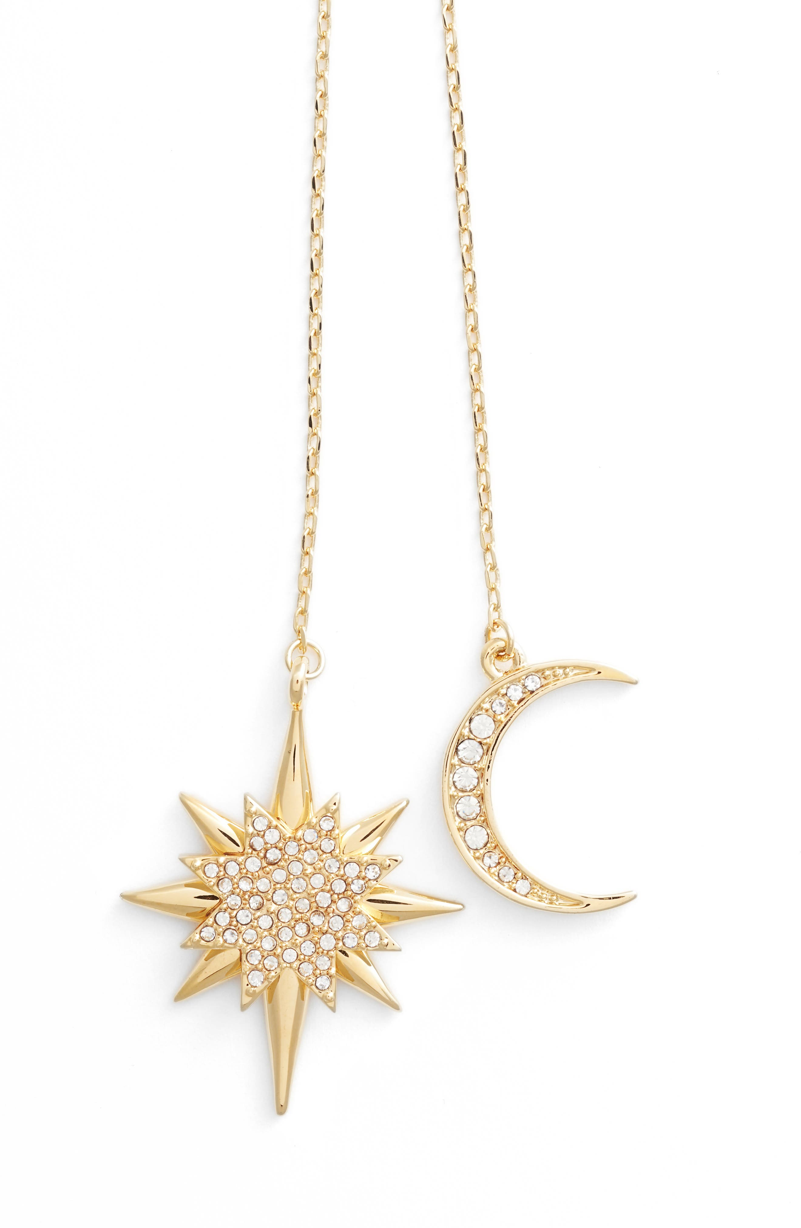 Celestial Skies Slider Pendant Necklace,                             Alternate thumbnail 2, color,                             Gold