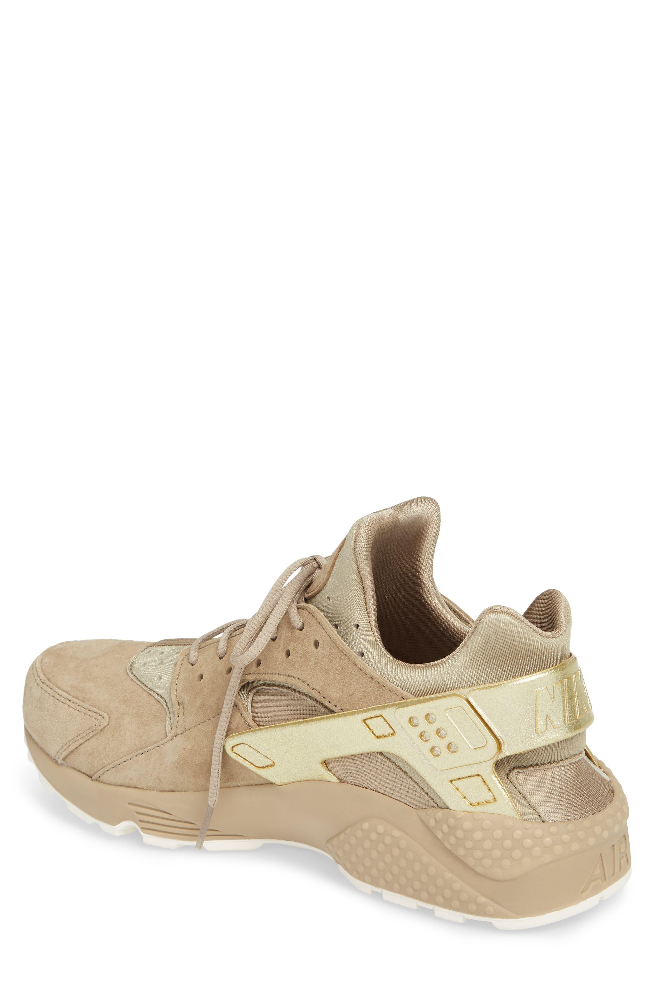 'Air Huarache Premiere' Sneaker,                             Alternate thumbnail 2, color,                             Khaki/ Gold/ Sail