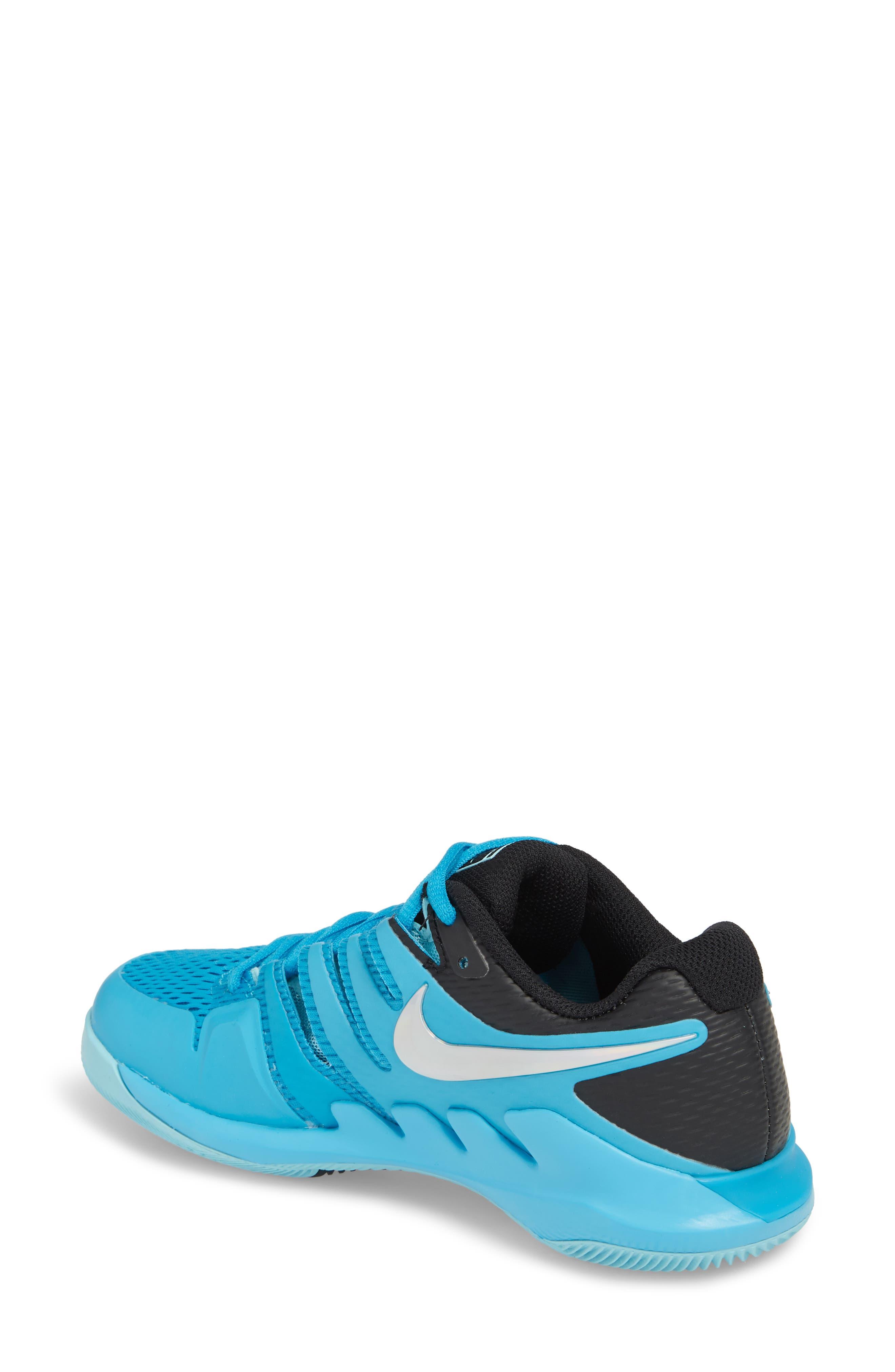 Air Zoom Vapor X Tennis Shoe,                             Alternate thumbnail 2, color,                             Light Blue Fury