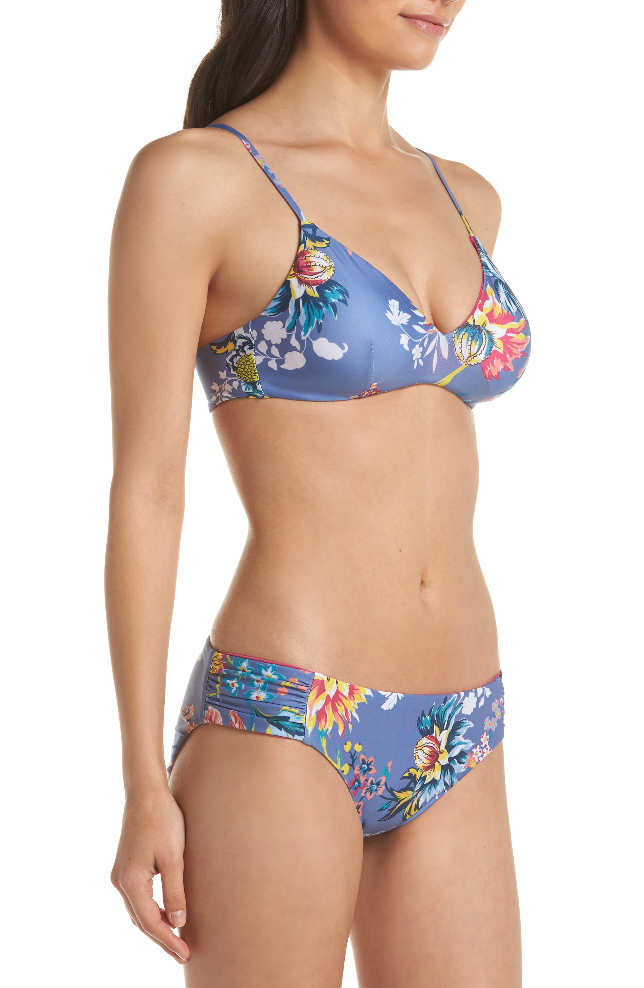 Victoria Garden Reversible Bikini Bottoms,                             Alternate thumbnail 8, color,                             Purple/ Blue Multi
