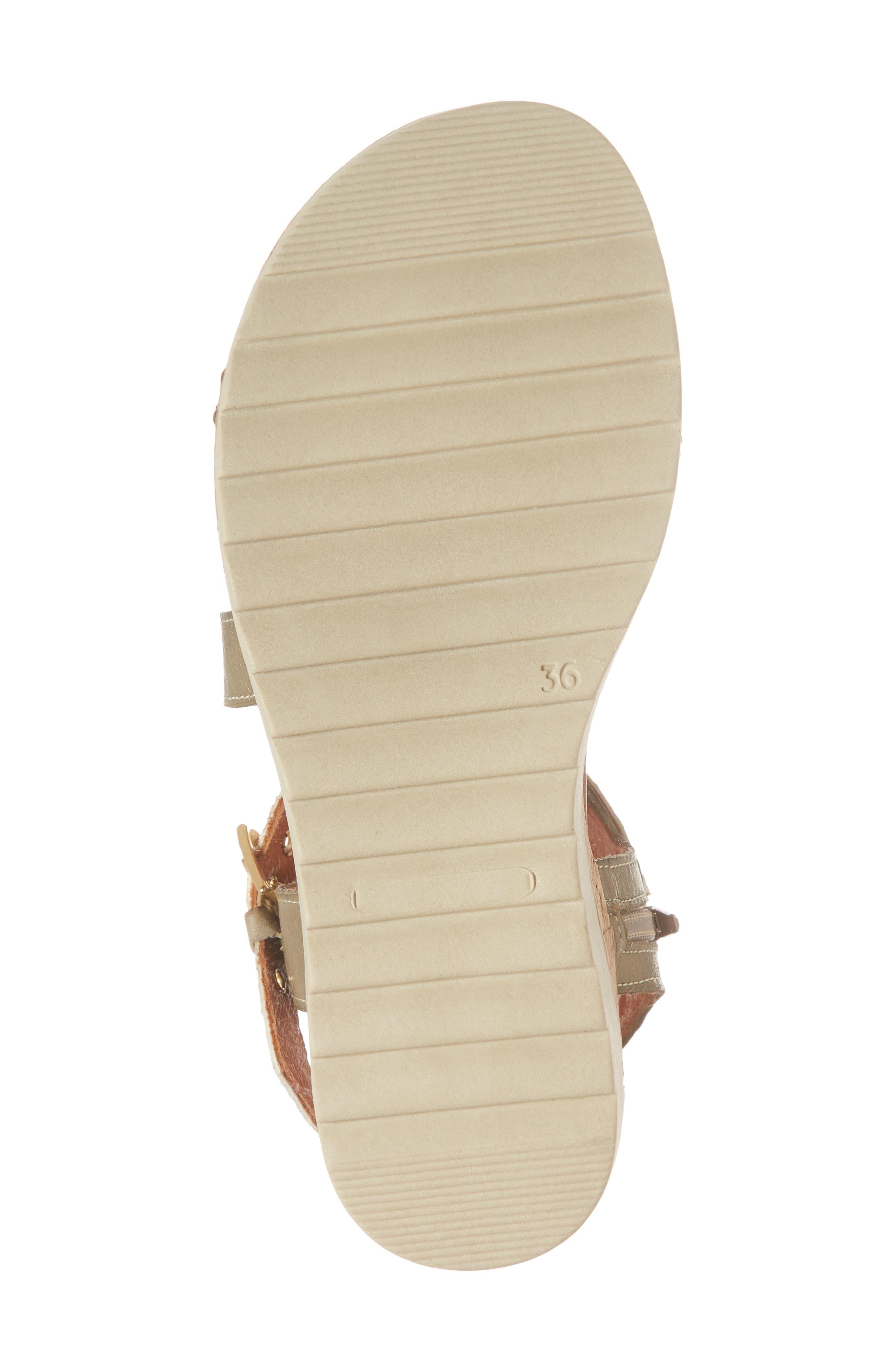 Gaga Sandal,                             Alternate thumbnail 6, color,                             Taupe Leather