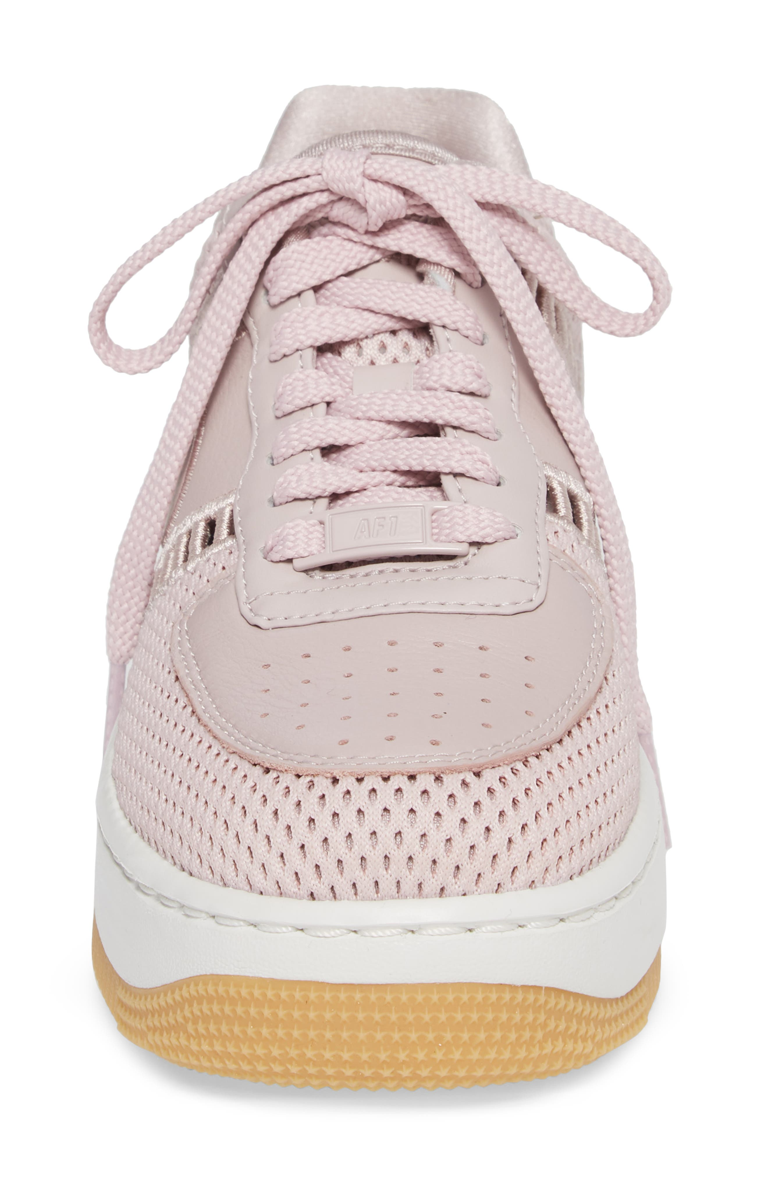 Air Force 1 Upstep SI Mesh Sneaker,                             Alternate thumbnail 4, color,                             Particle Rose/ Summit White