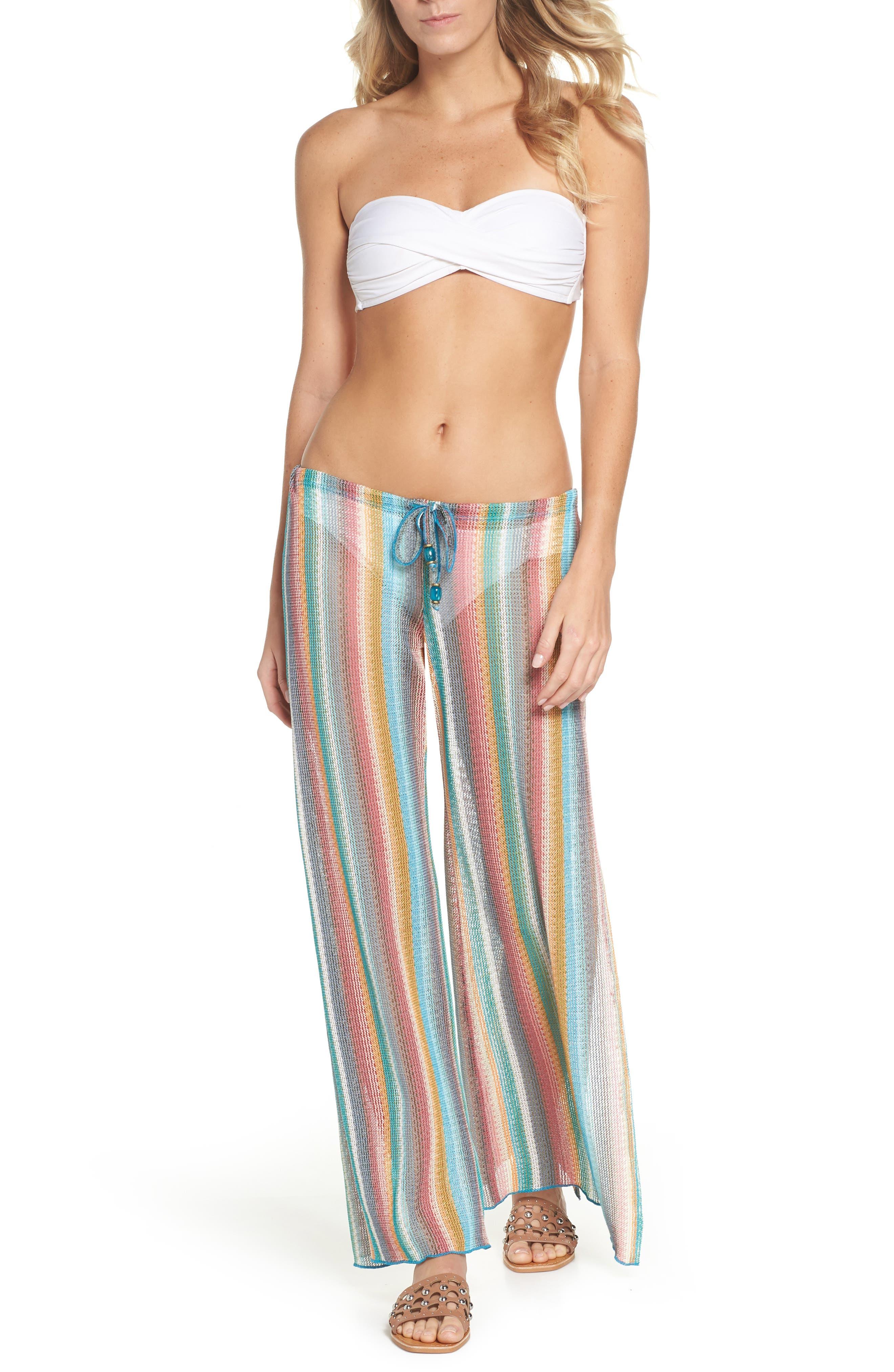 Seville Cover-Up Pants,                         Main,                         color, Orange Multi