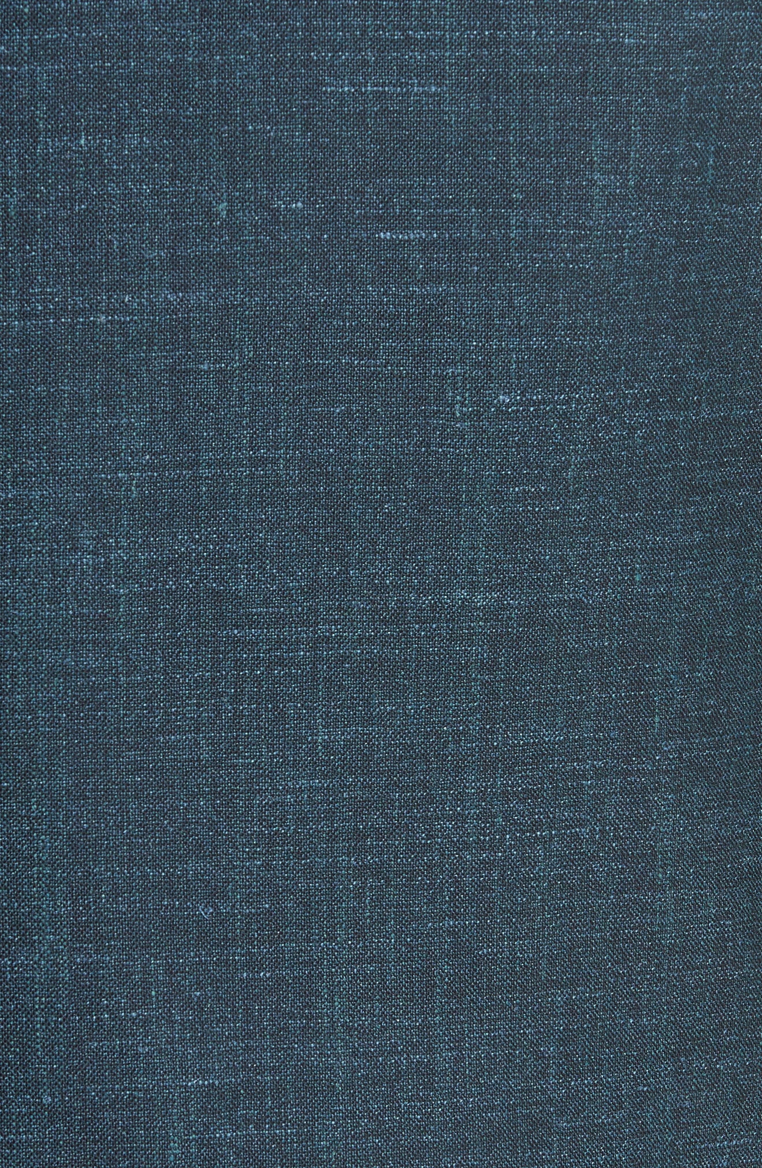 Classic Fit Wool Blend Blazer,                             Alternate thumbnail 5, color,                             Green