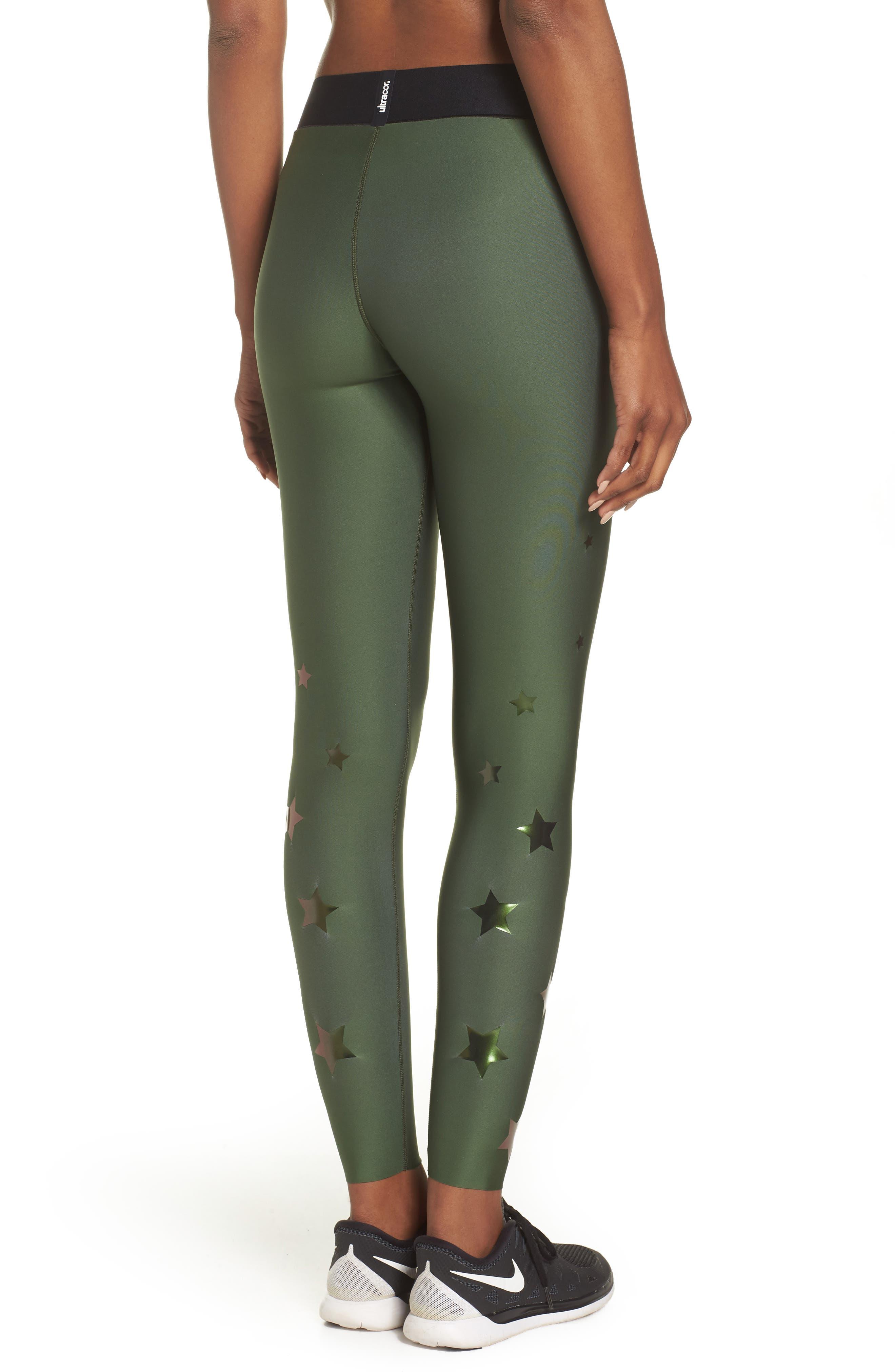 Ultra Luster Leggings,                             Alternate thumbnail 2, color,                             Army Green Beetle