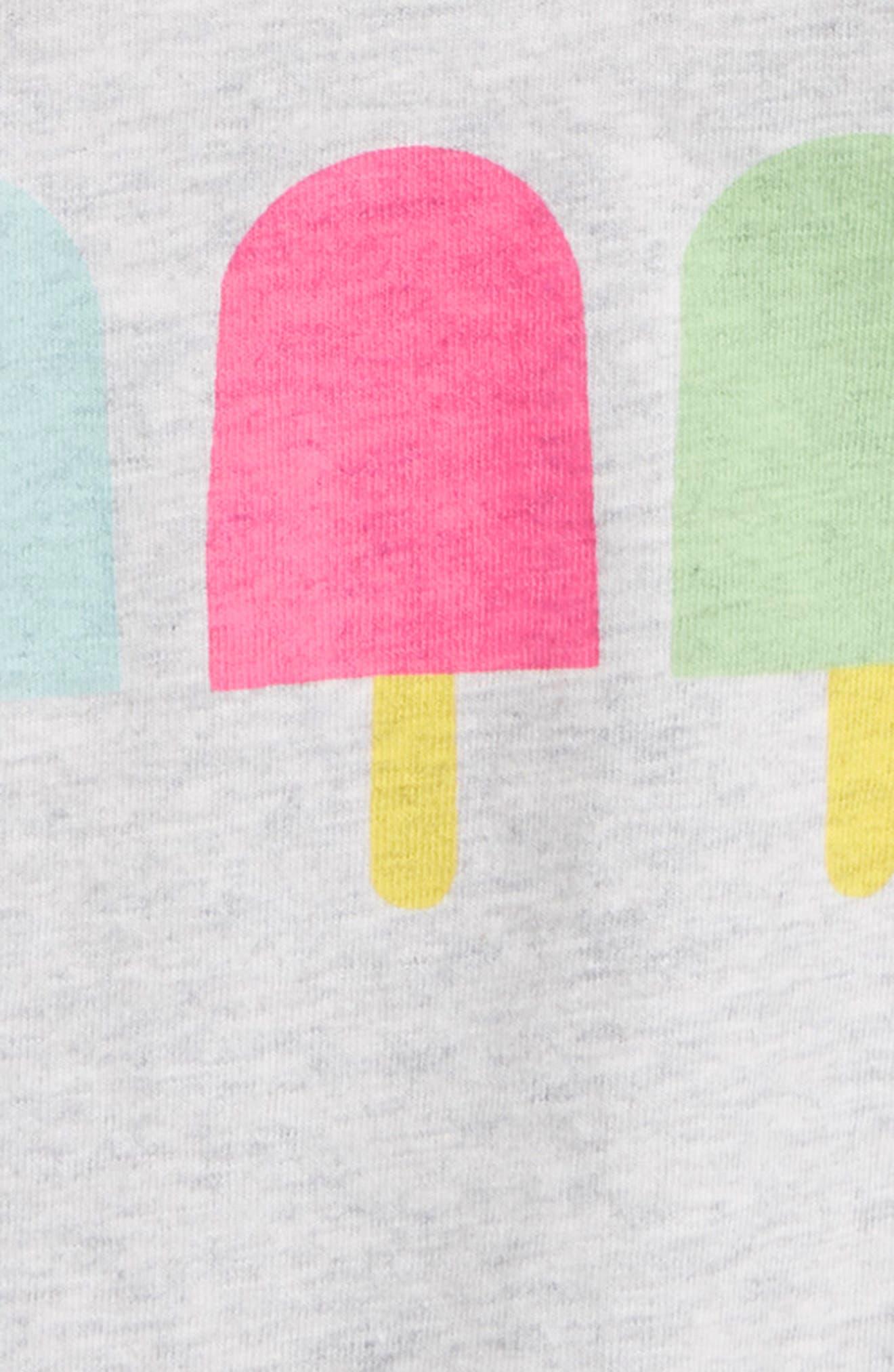 Popsicle Tee,                             Alternate thumbnail 2, color,                             Light Grey Heather