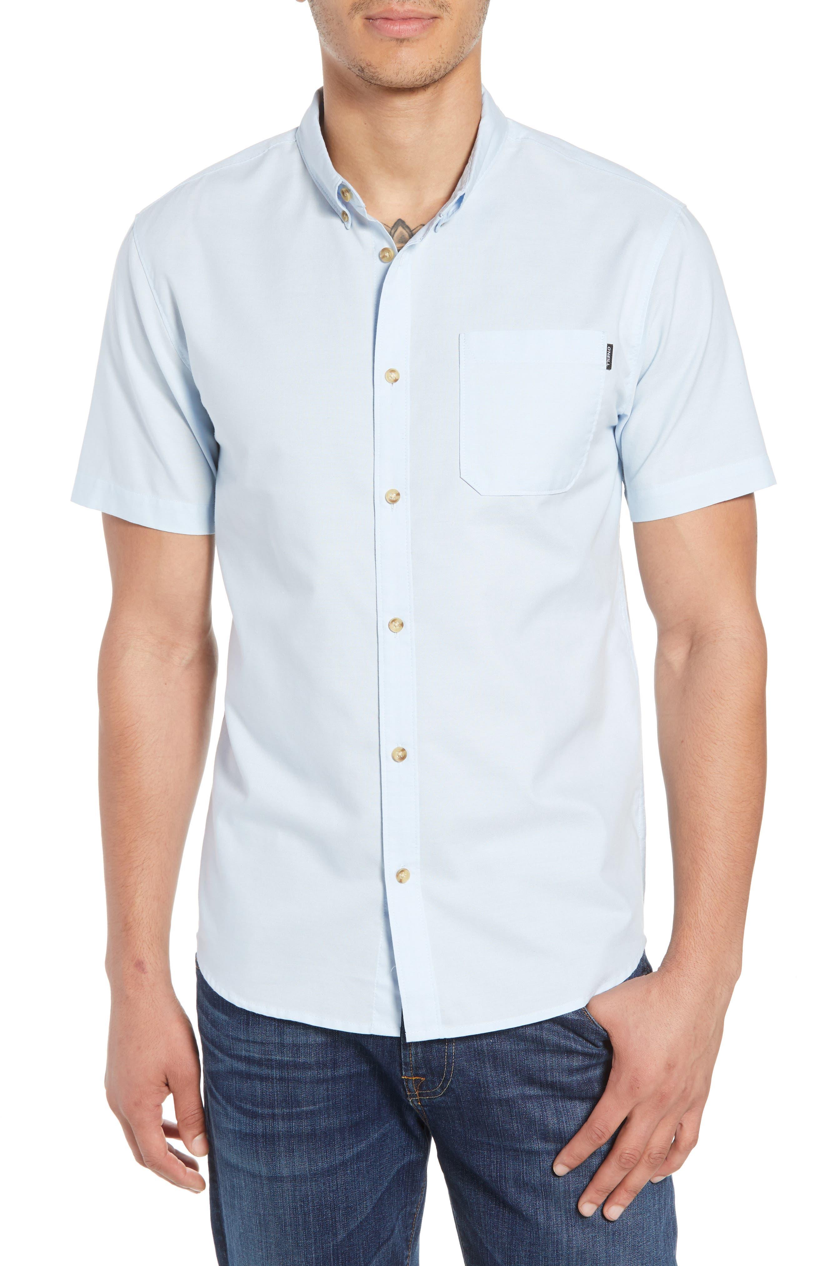 Banks Woven Shirt,                             Main thumbnail 1, color,                             Light Blue