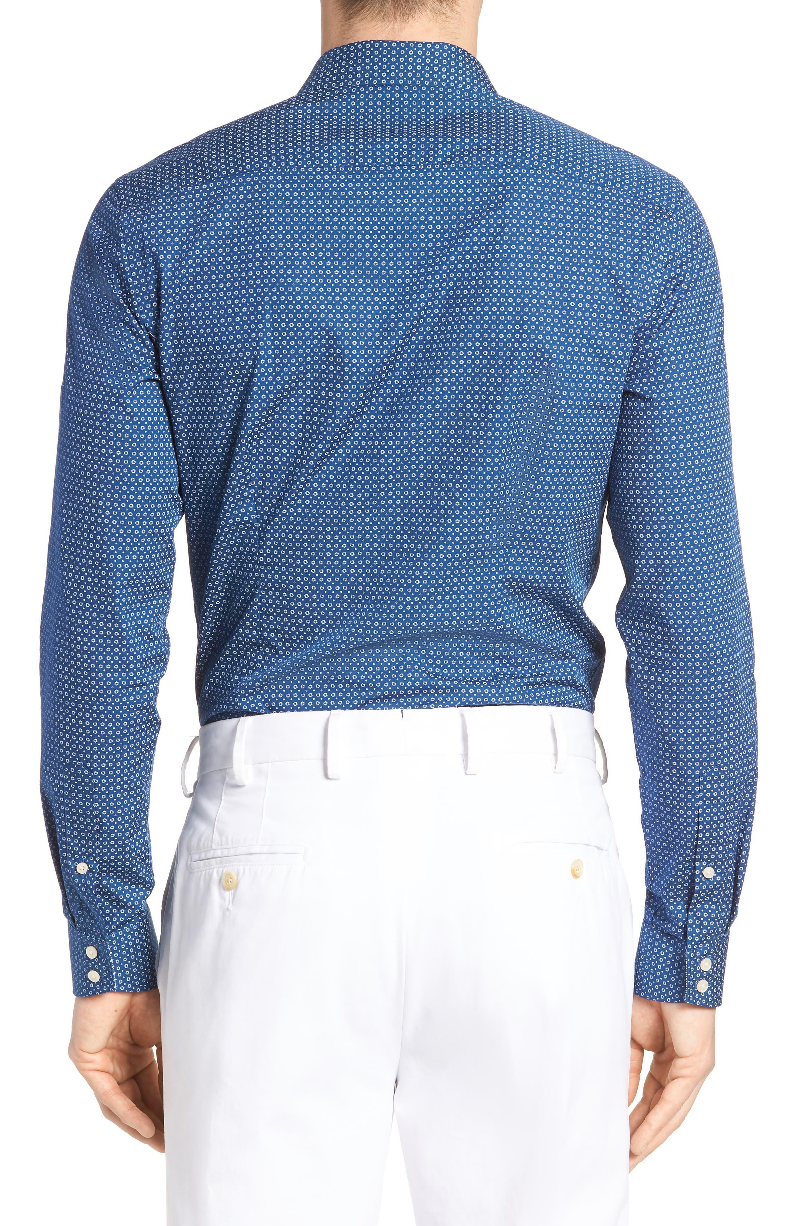 Loops Slim Fit Dress Shirt,                             Alternate thumbnail 2, color,                             Navy