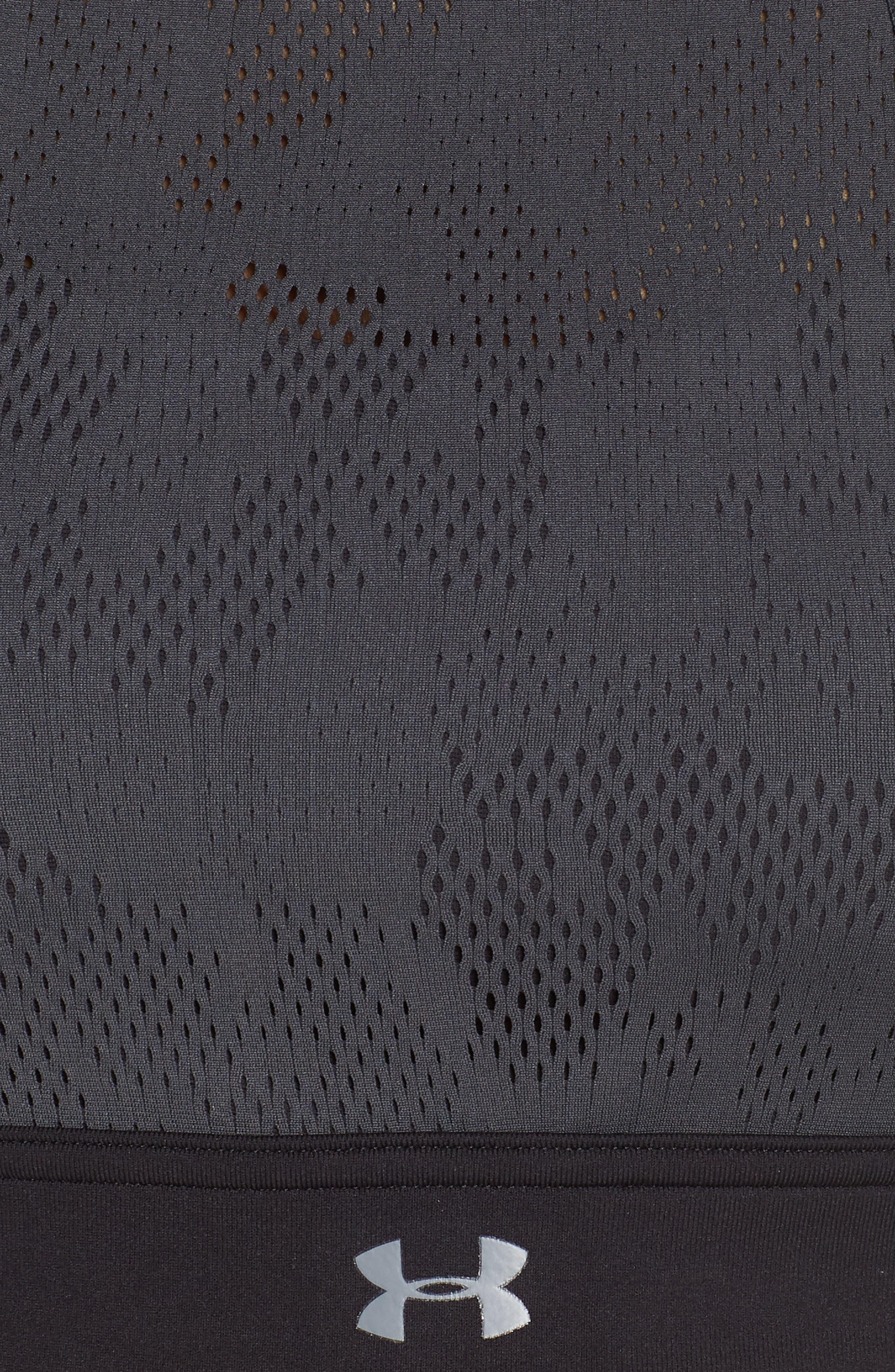 Vanic Mid Vent Sports Bra,                             Alternate thumbnail 6, color,                             Black