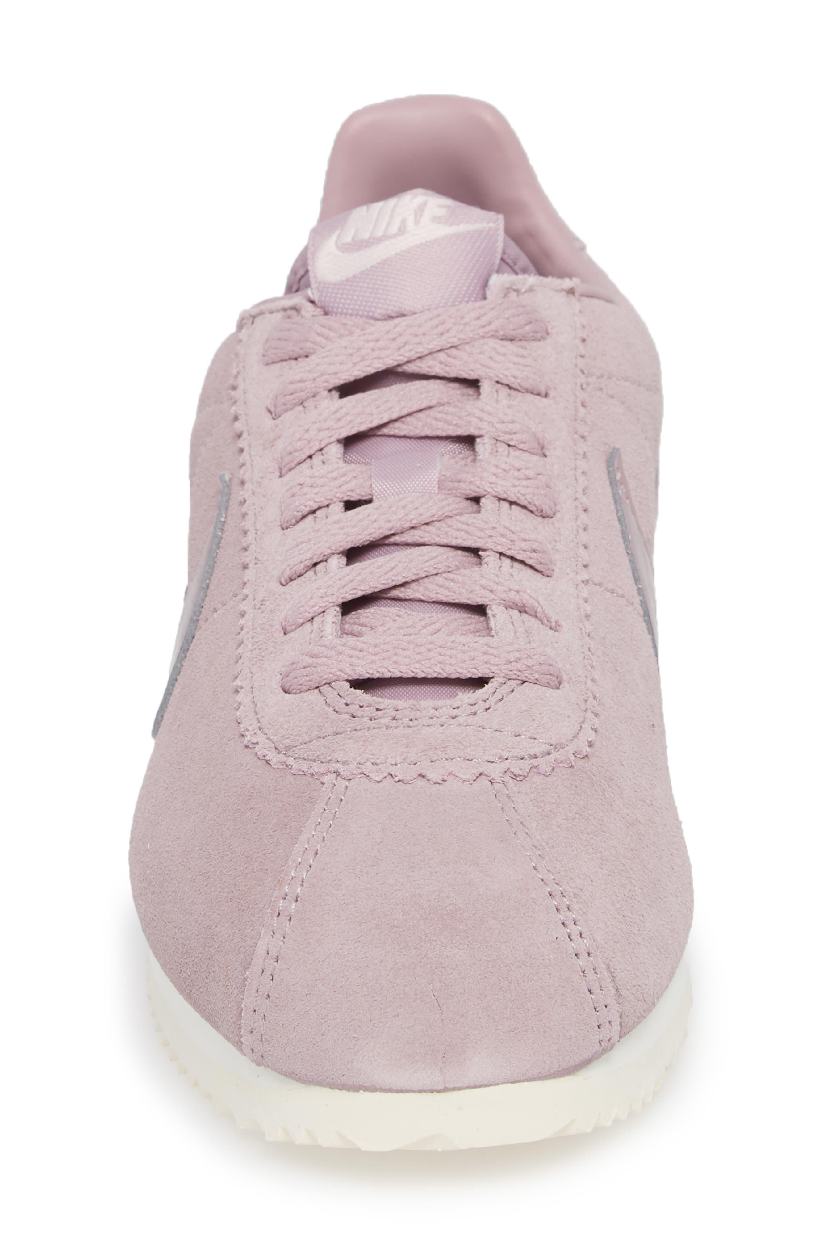 Classic Cortez Suede Sneaker,                             Alternate thumbnail 4, color,                             Elemental Rose/ Elemental Rose