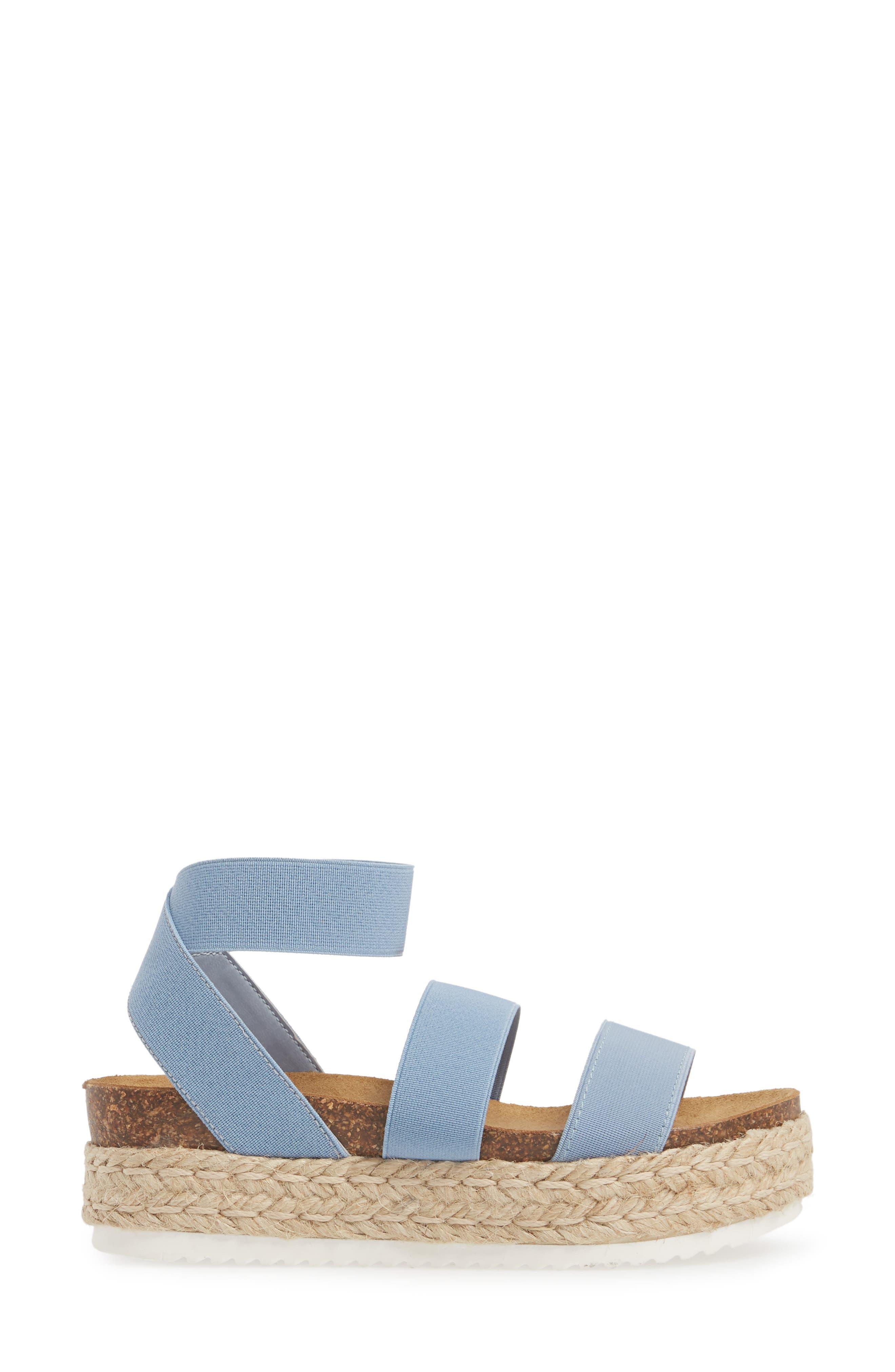 Kimmie Flatform Sandal,                             Alternate thumbnail 3, color,                             Blue