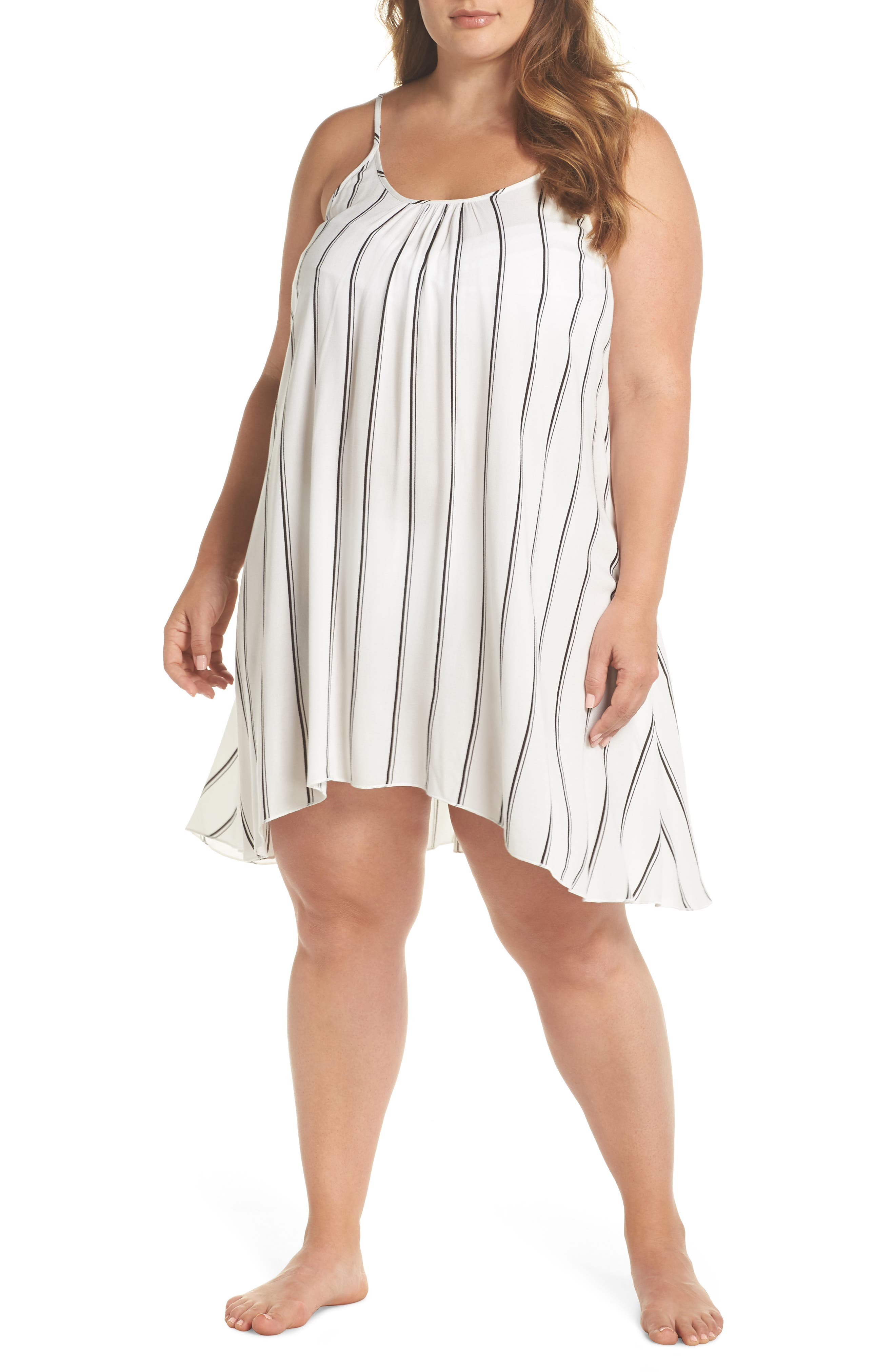 Cover-Up Dress,                         Main,                         color, Navy/ White