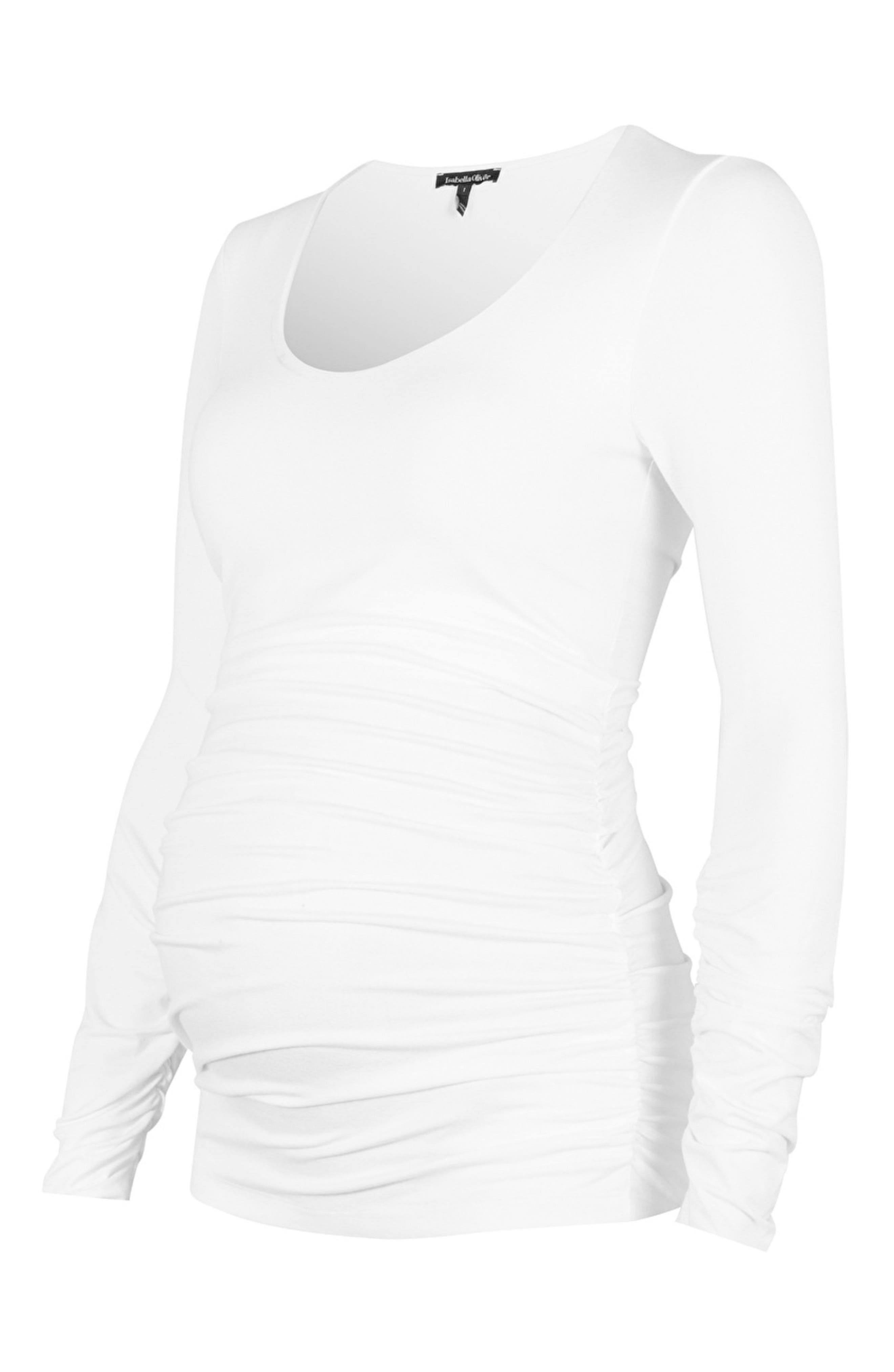 'The Scoop' Maternity Top,                             Main thumbnail 1, color,                             Pure White