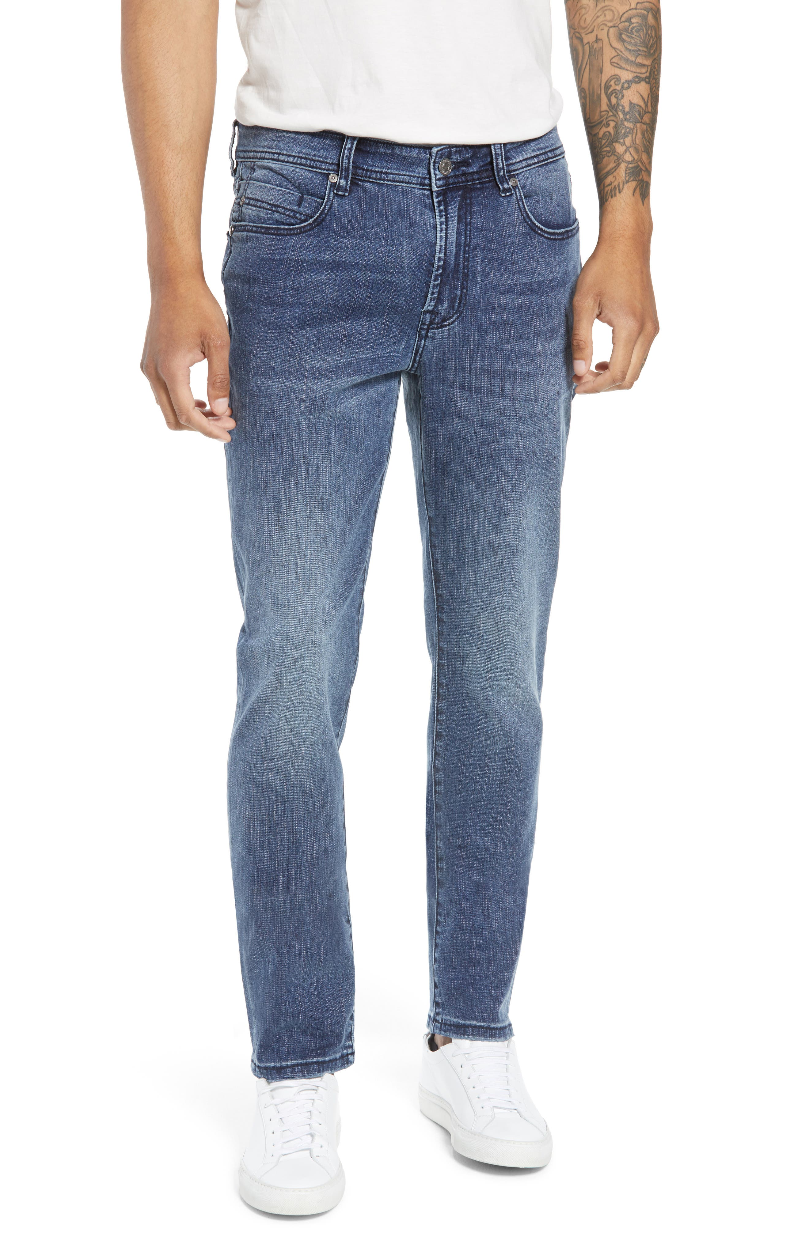 Jeans Co. Slim Straight Leg Jeans,                         Main,                         color, Southaven Mid Blue