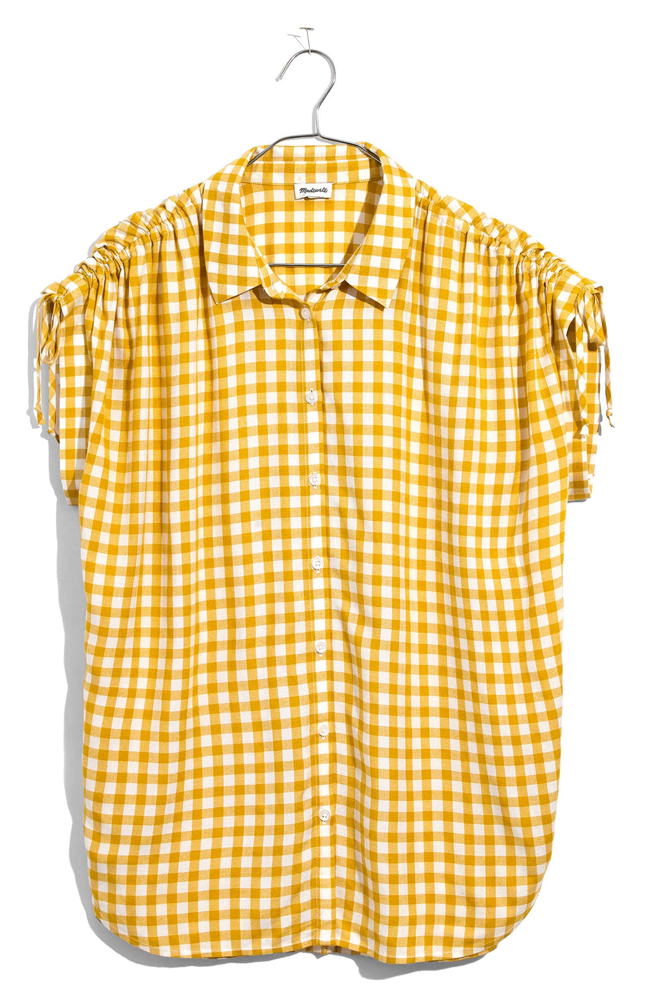 Central Ruched Sleeve Shirt,                             Alternate thumbnail 3, color,                             Celestial Gold