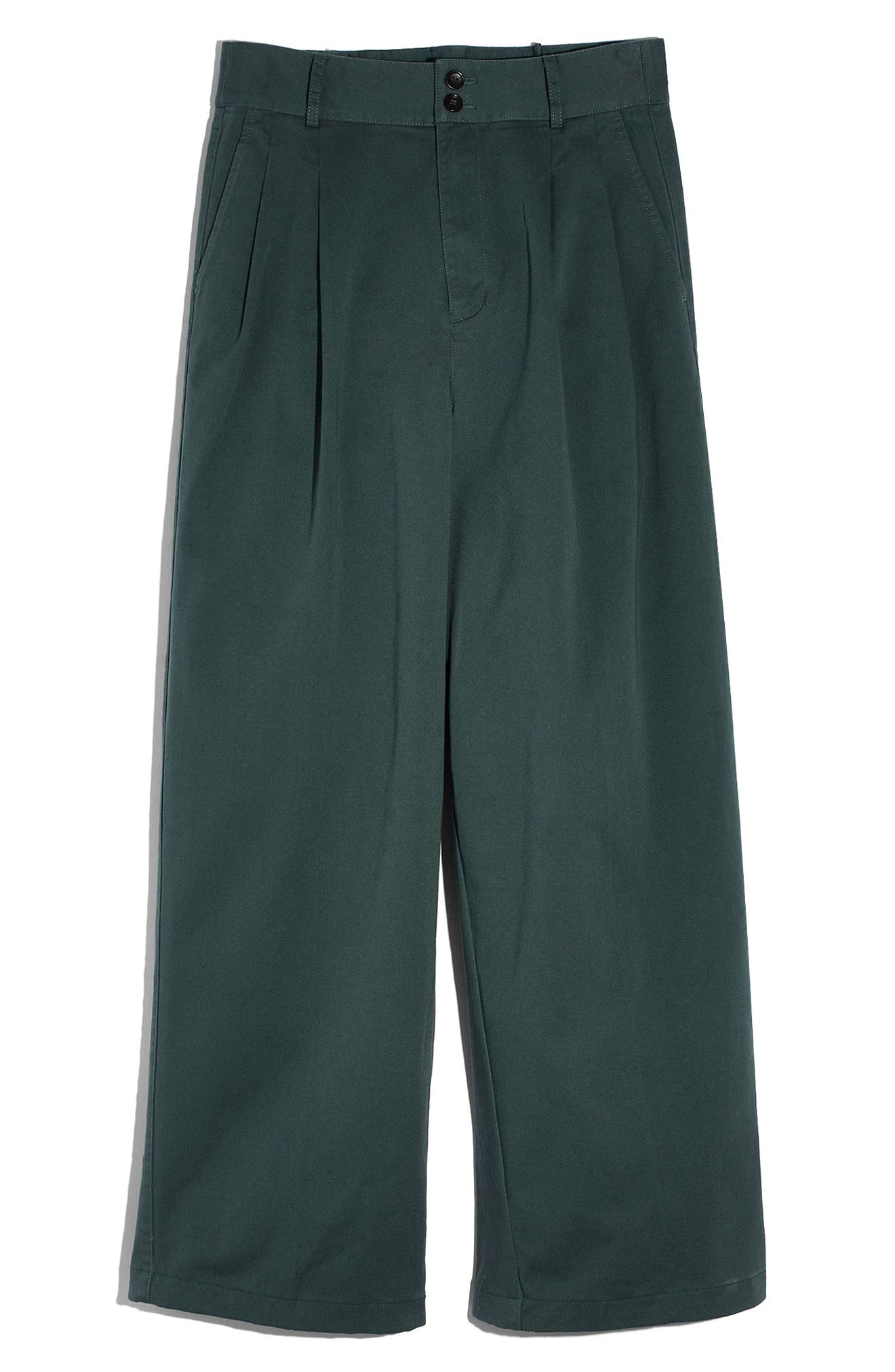 High Waist Crop Wide Leg Pants,                             Alternate thumbnail 4, color,                             Architect Green