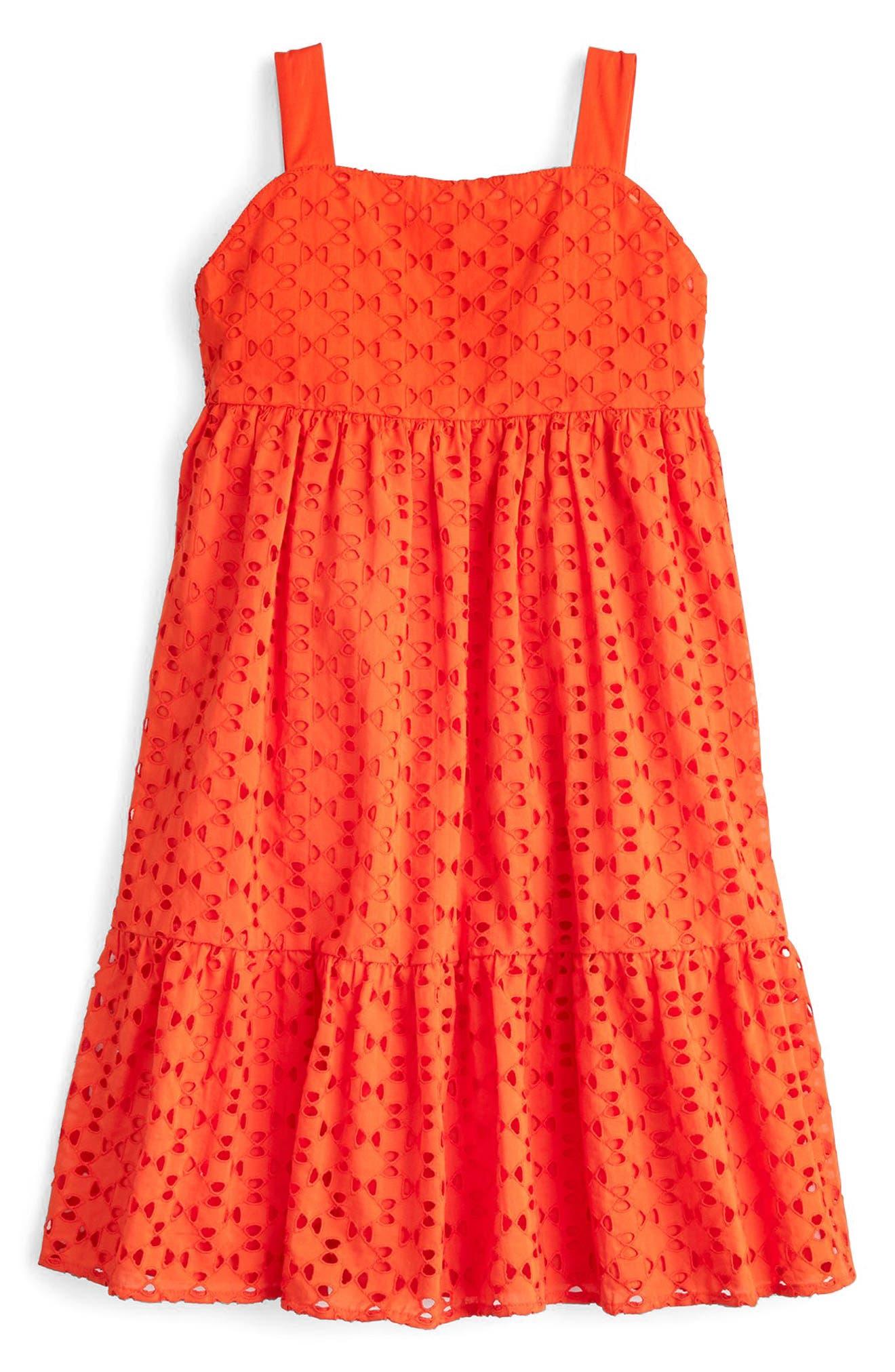 Eliza Eyelet Dress,                             Main thumbnail 1, color,                             Cerise Rd5933