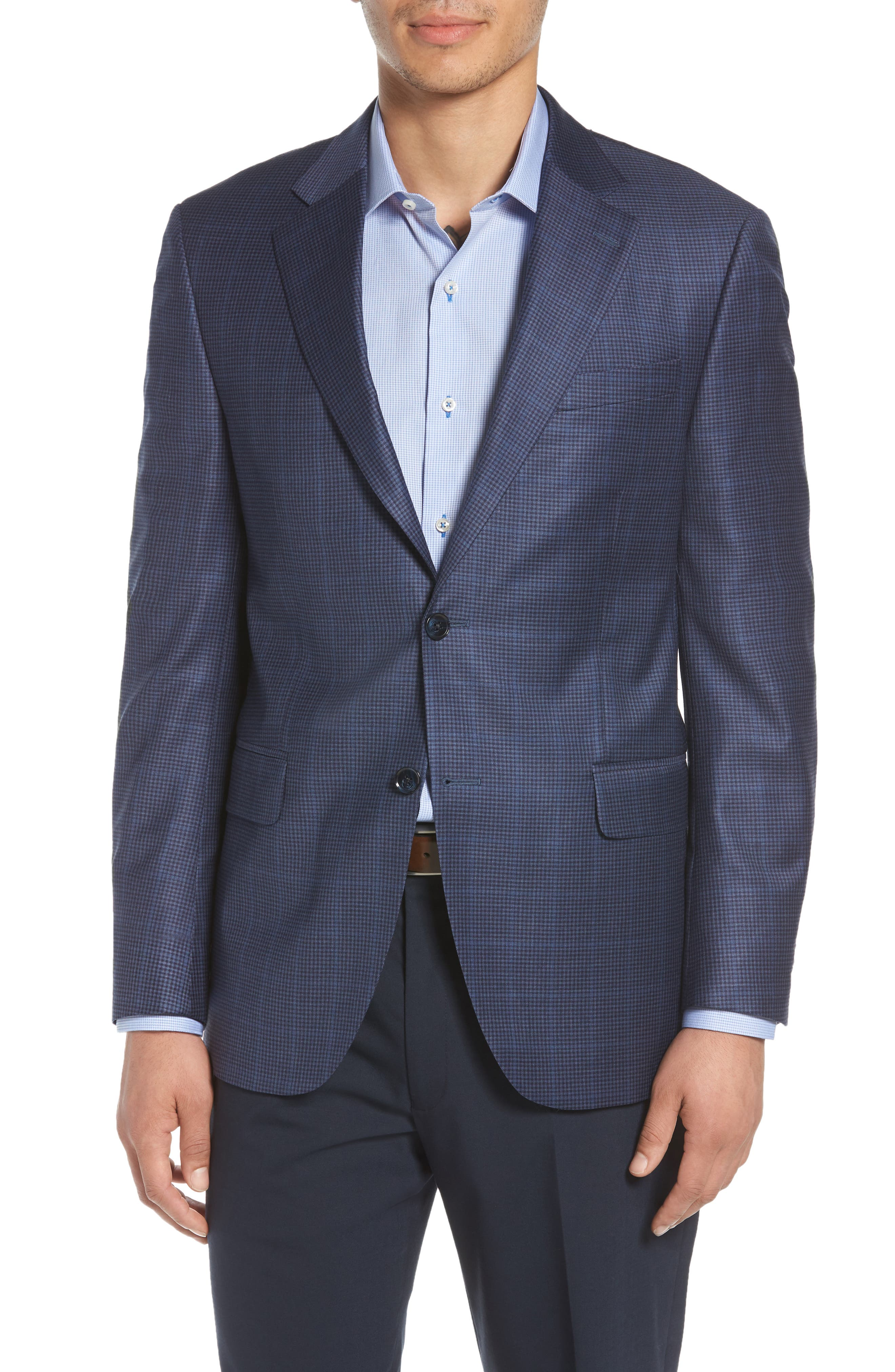 Peter Millar Classic Fit Houndstooth Wool Sport Coat