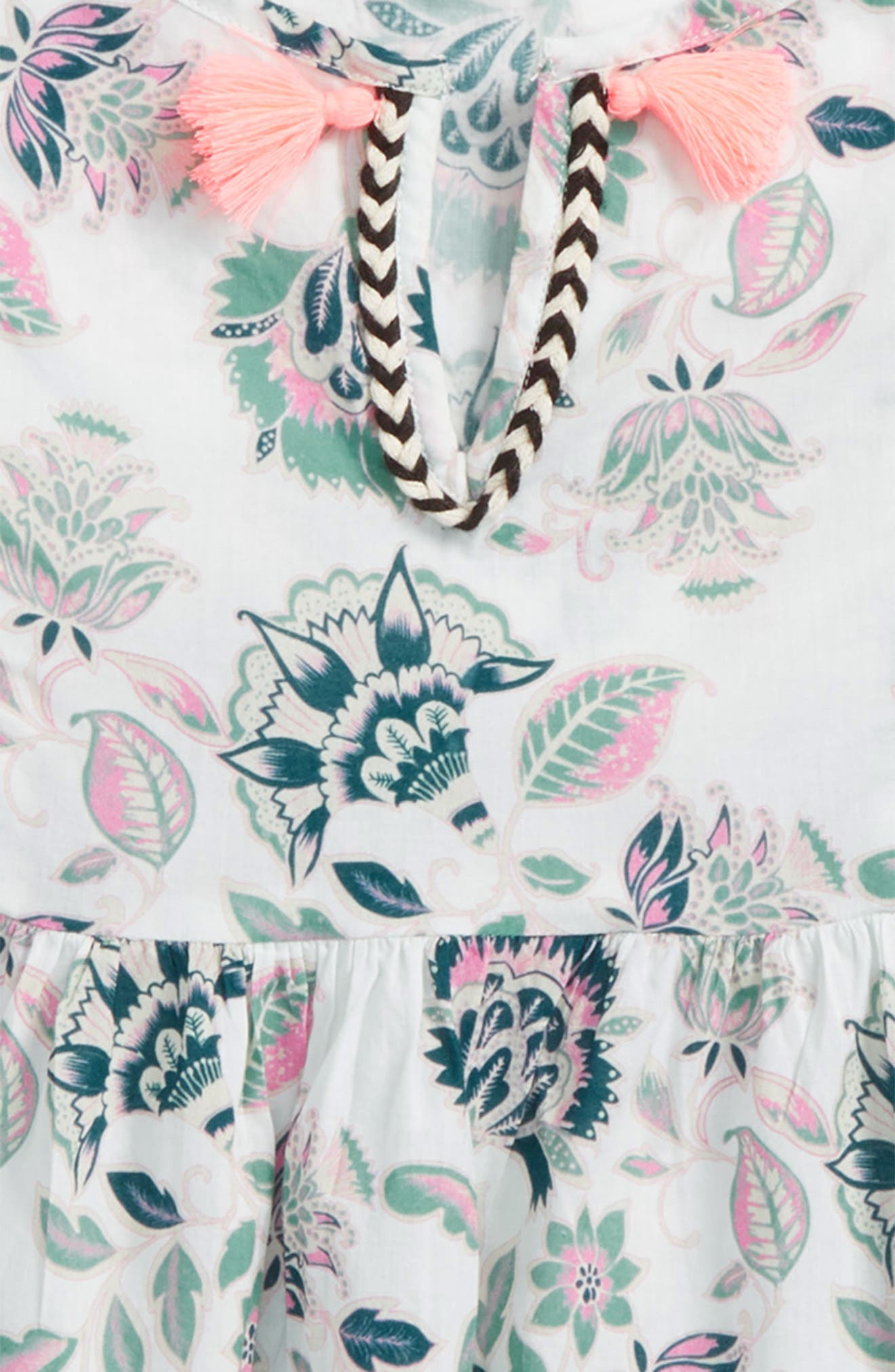 Stefani Floral Print Top,                             Alternate thumbnail 2, color,                             White