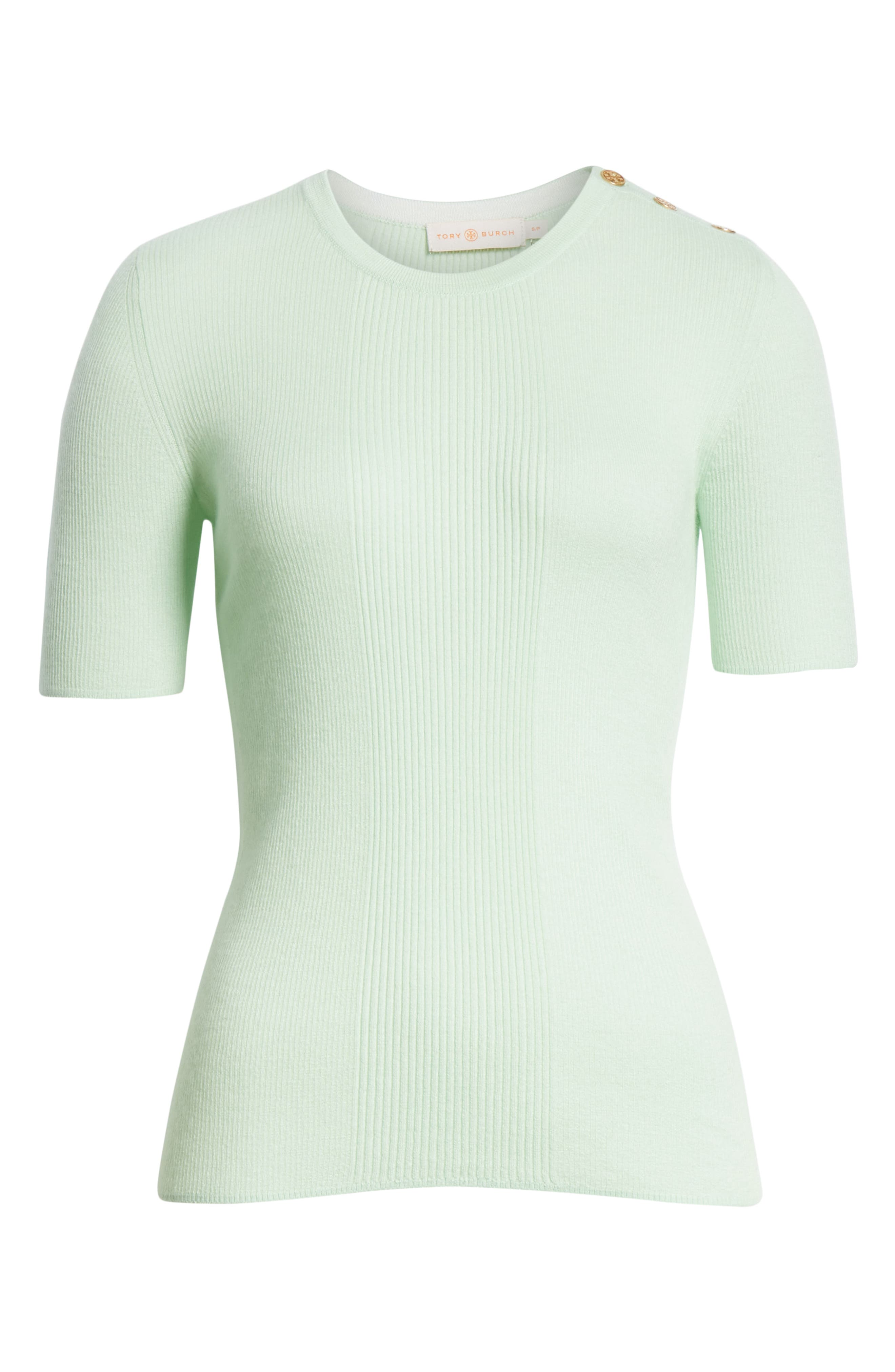 Taylor Ribbed Sweater,                             Alternate thumbnail 6, color,                             Crushed Mint