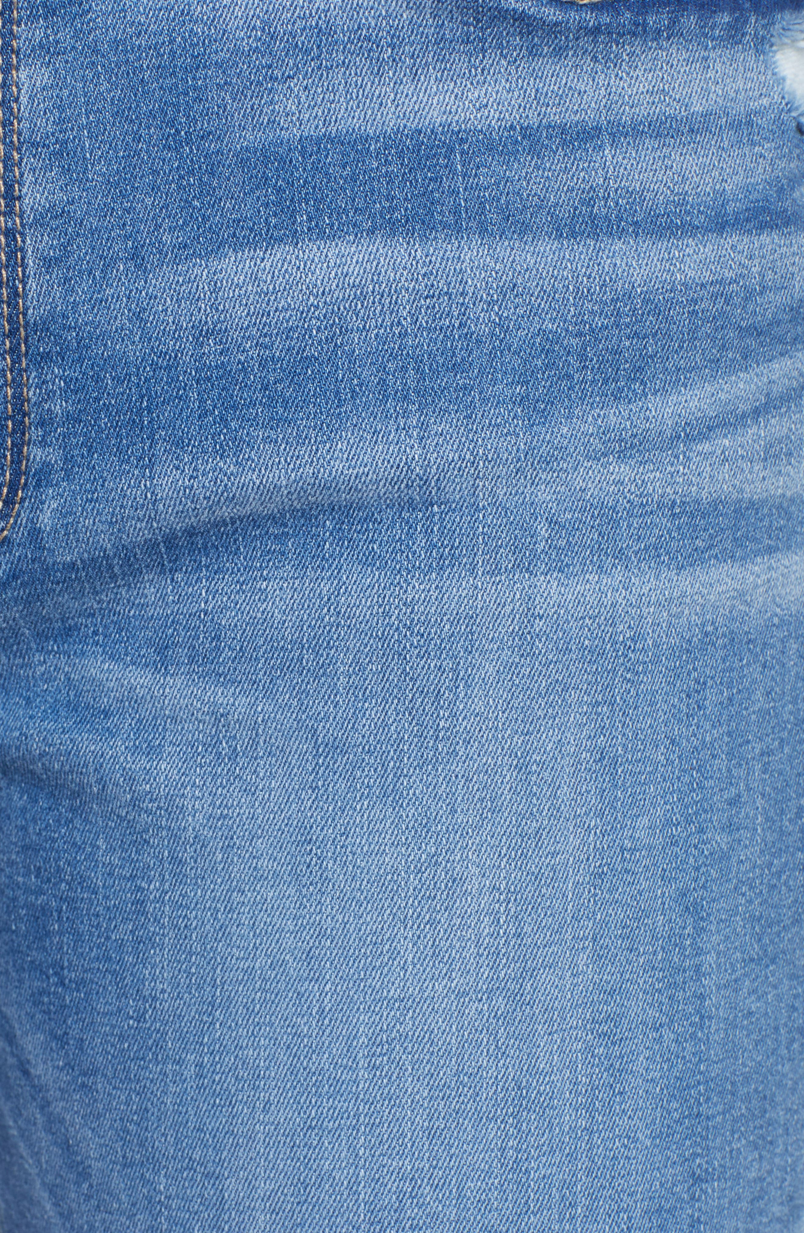 Transcend Vintage - Jimmy Jimmy High Waist Crop Boyfriend Jeans,                             Alternate thumbnail 6, color,                             Vintage Venice