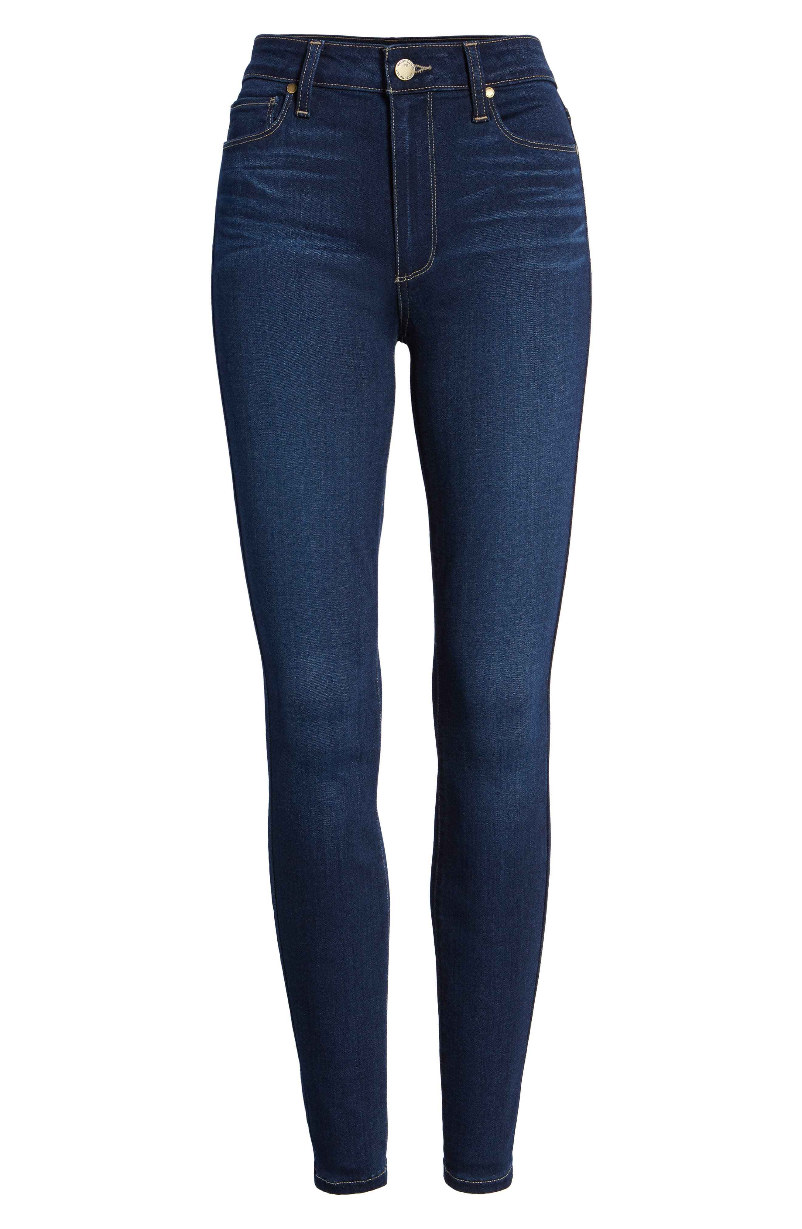 Hoxton High Waist Ankle Skinny Jeans,                             Alternate thumbnail 7, color,                             Calani