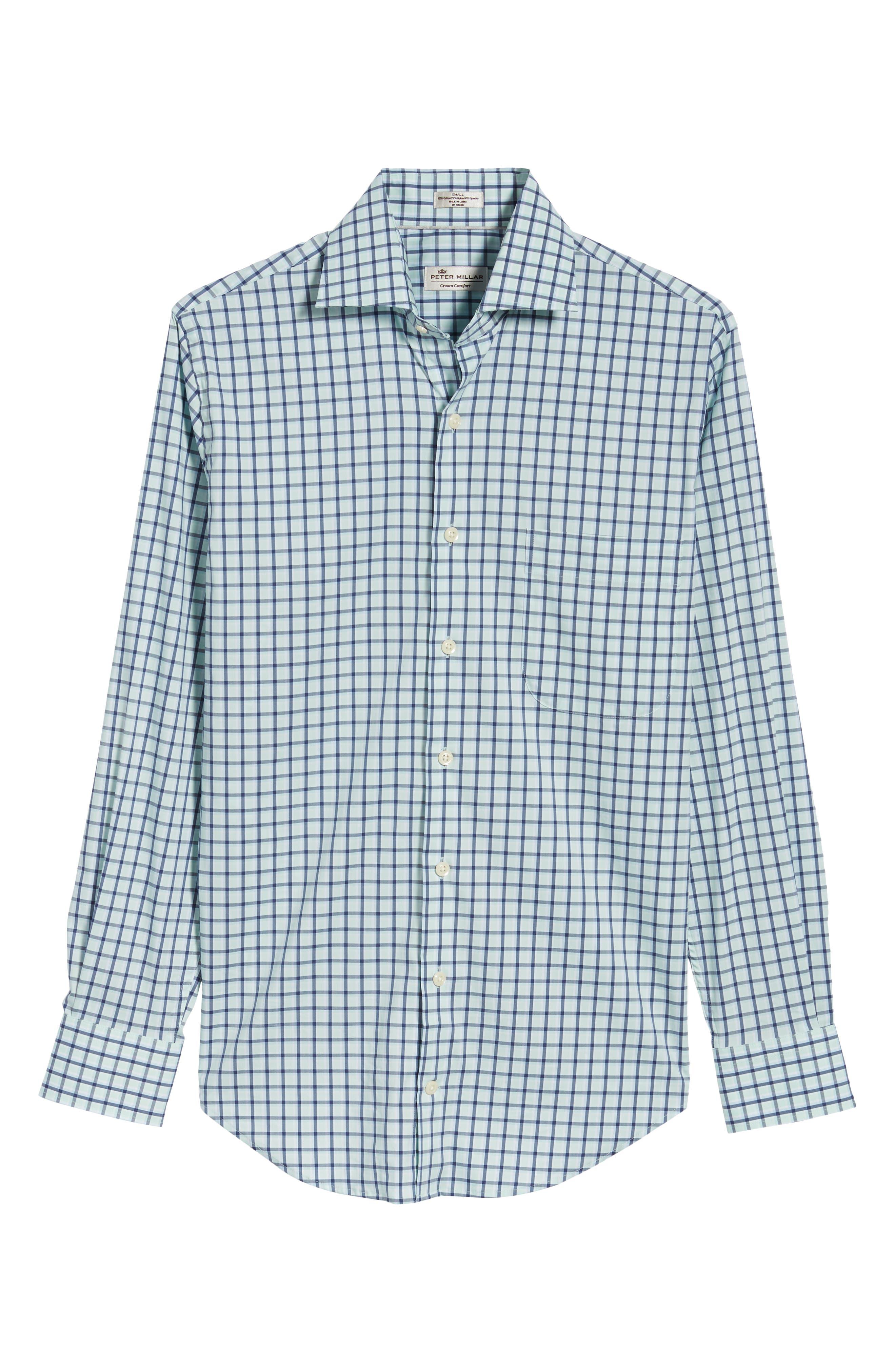 Crown Comfort Check Sport Shirt,                             Alternate thumbnail 6, color,                             Cays