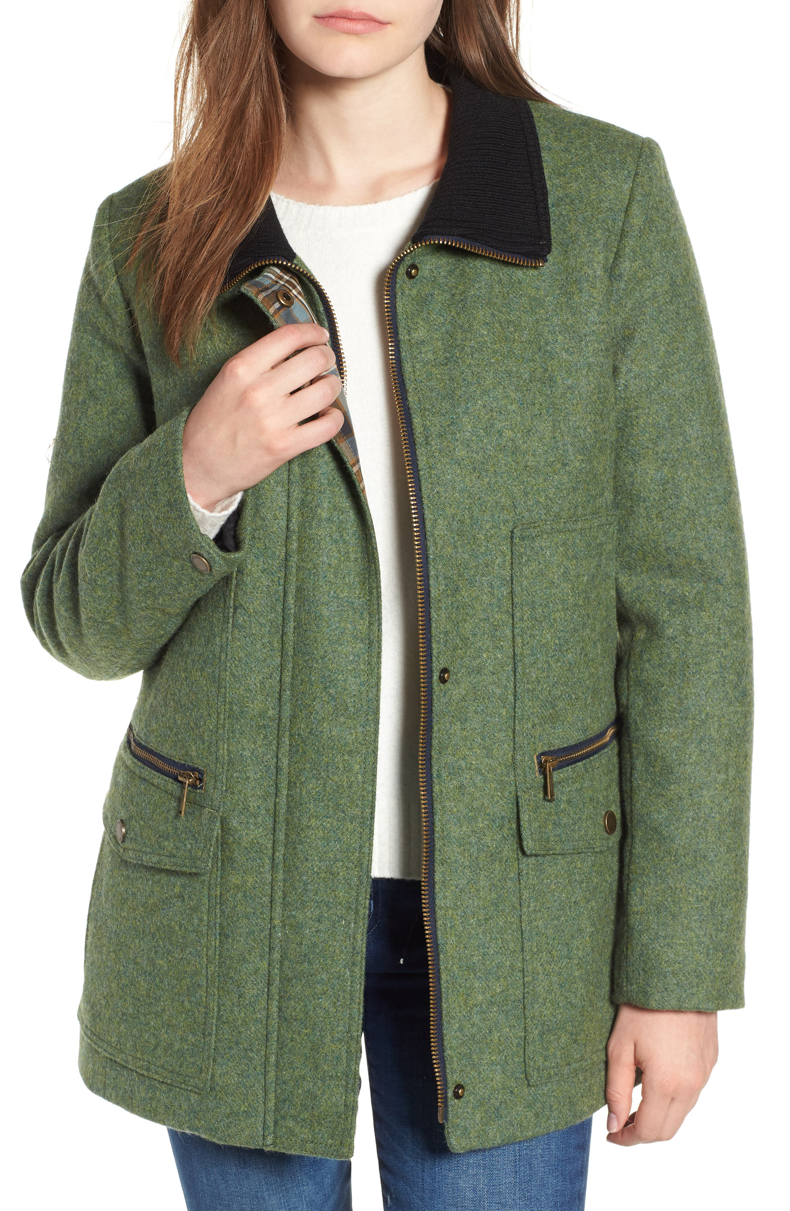 Timberline Field Coat,                         Main,                         color, Moss