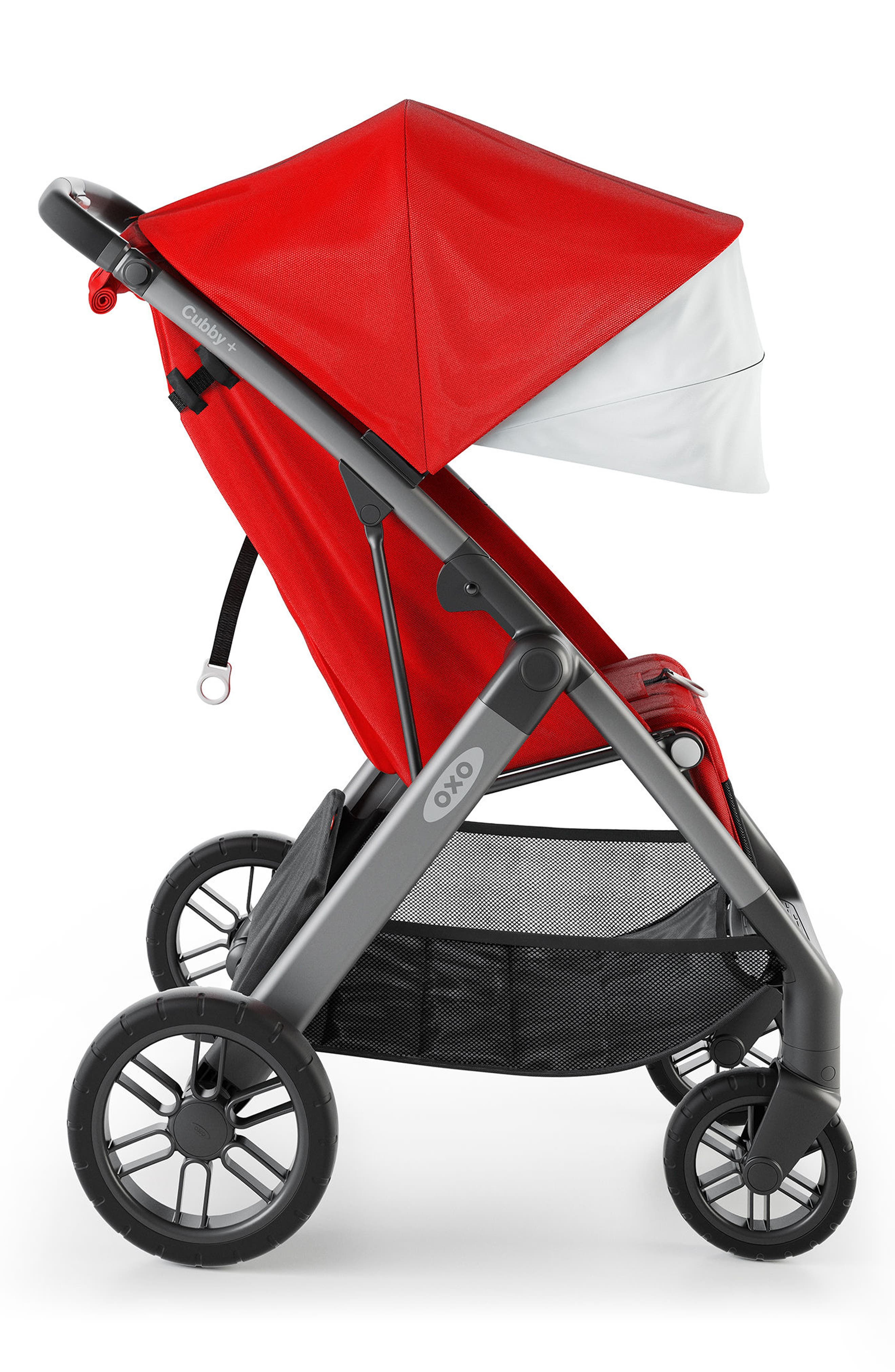 Cubby+ Stroller,                             Alternate thumbnail 3, color,                             Red
