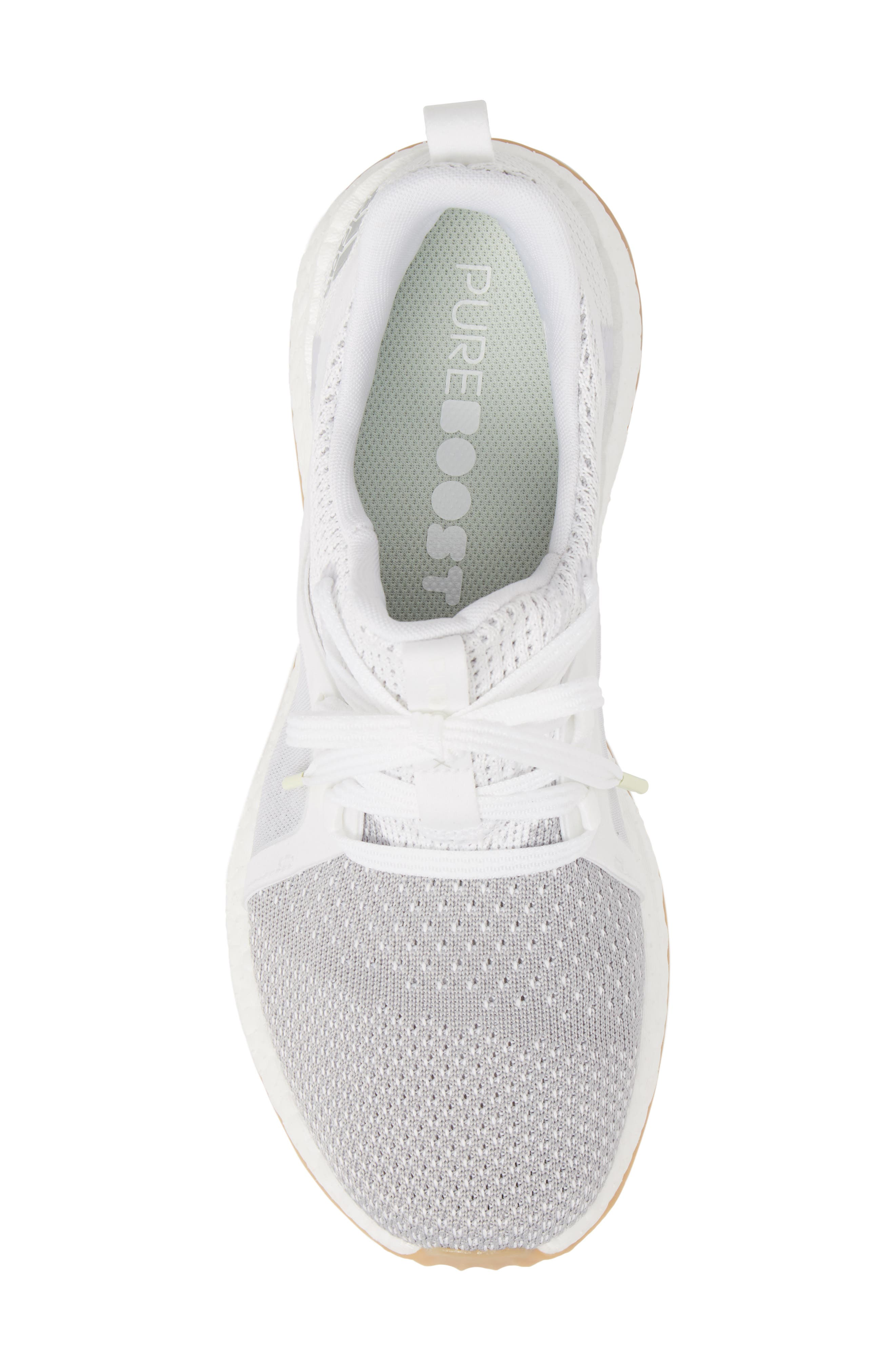 Pureboost X Clima Sneaker,                             Alternate thumbnail 5, color,                             White/ Silver/ Grey