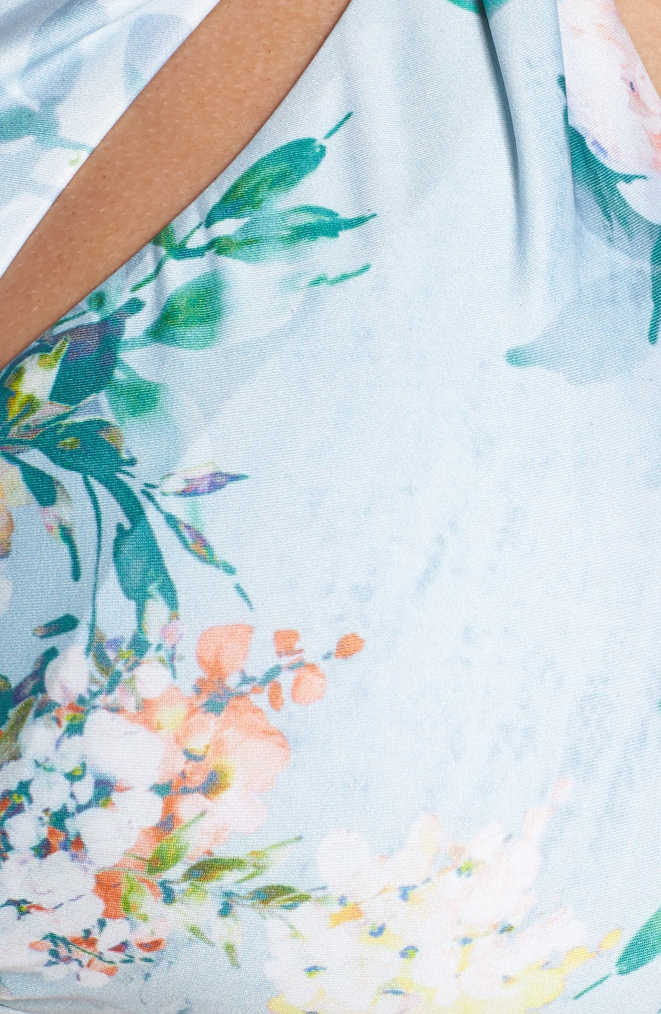 Femme Flora Bikini Top,                             Alternate thumbnail 5, color,                             Blue Multi