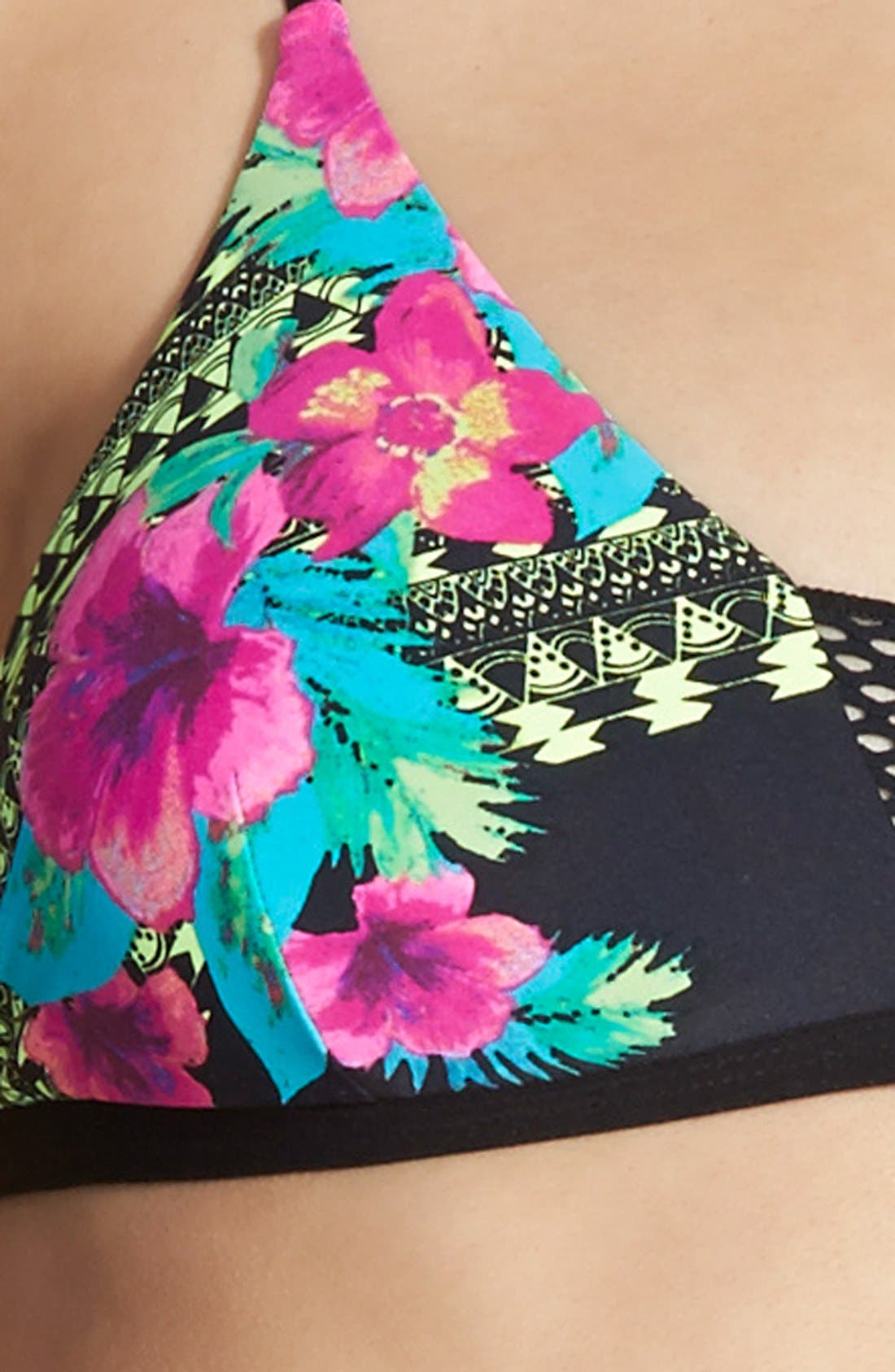 Alternate Image 3  - Rip Curl 'Spanish Garden' Triangle Bikini Top (Juniors)
