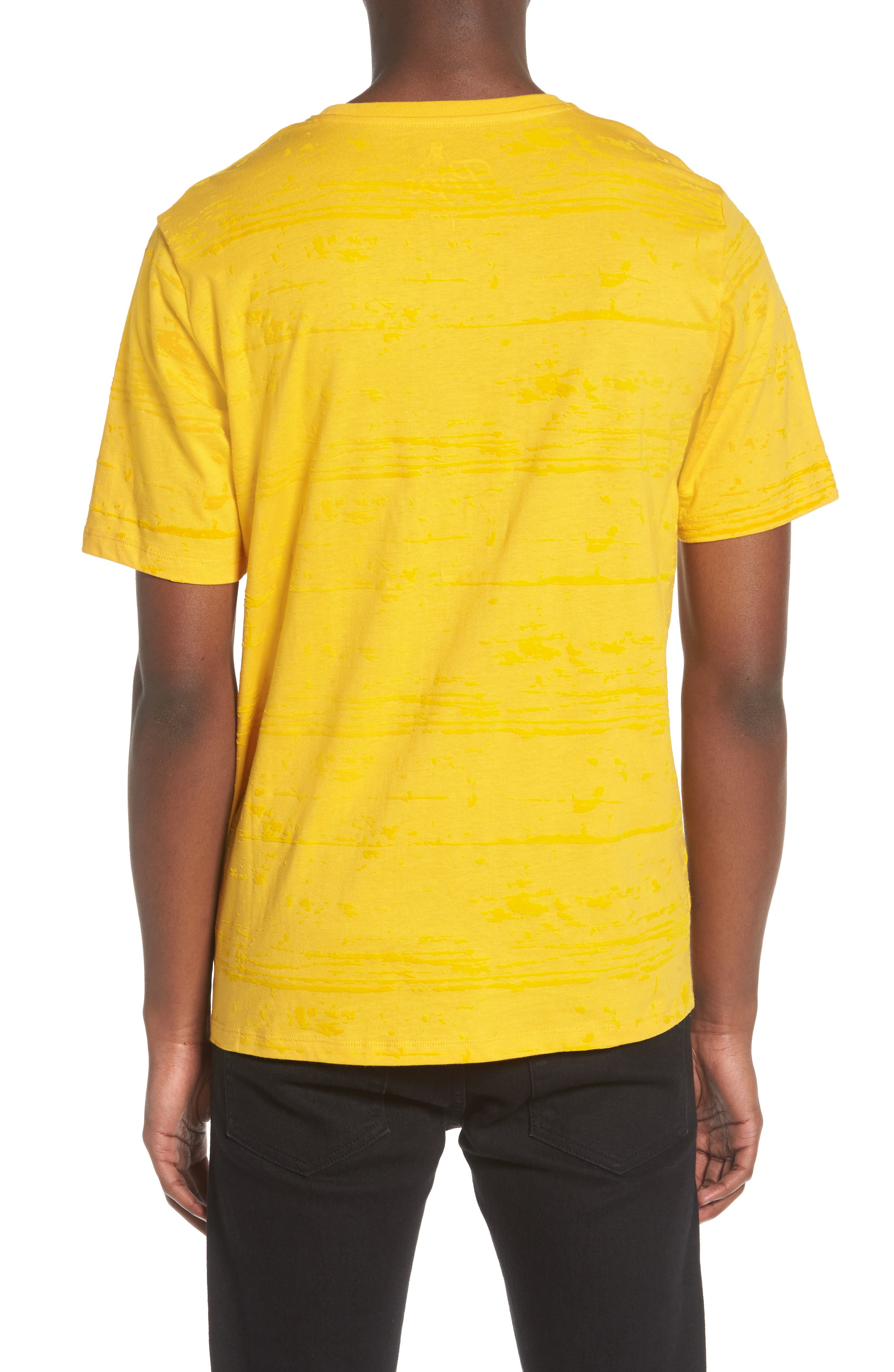 Flocked Graphic T-Shirt,                             Alternate thumbnail 2, color,                             Yellow