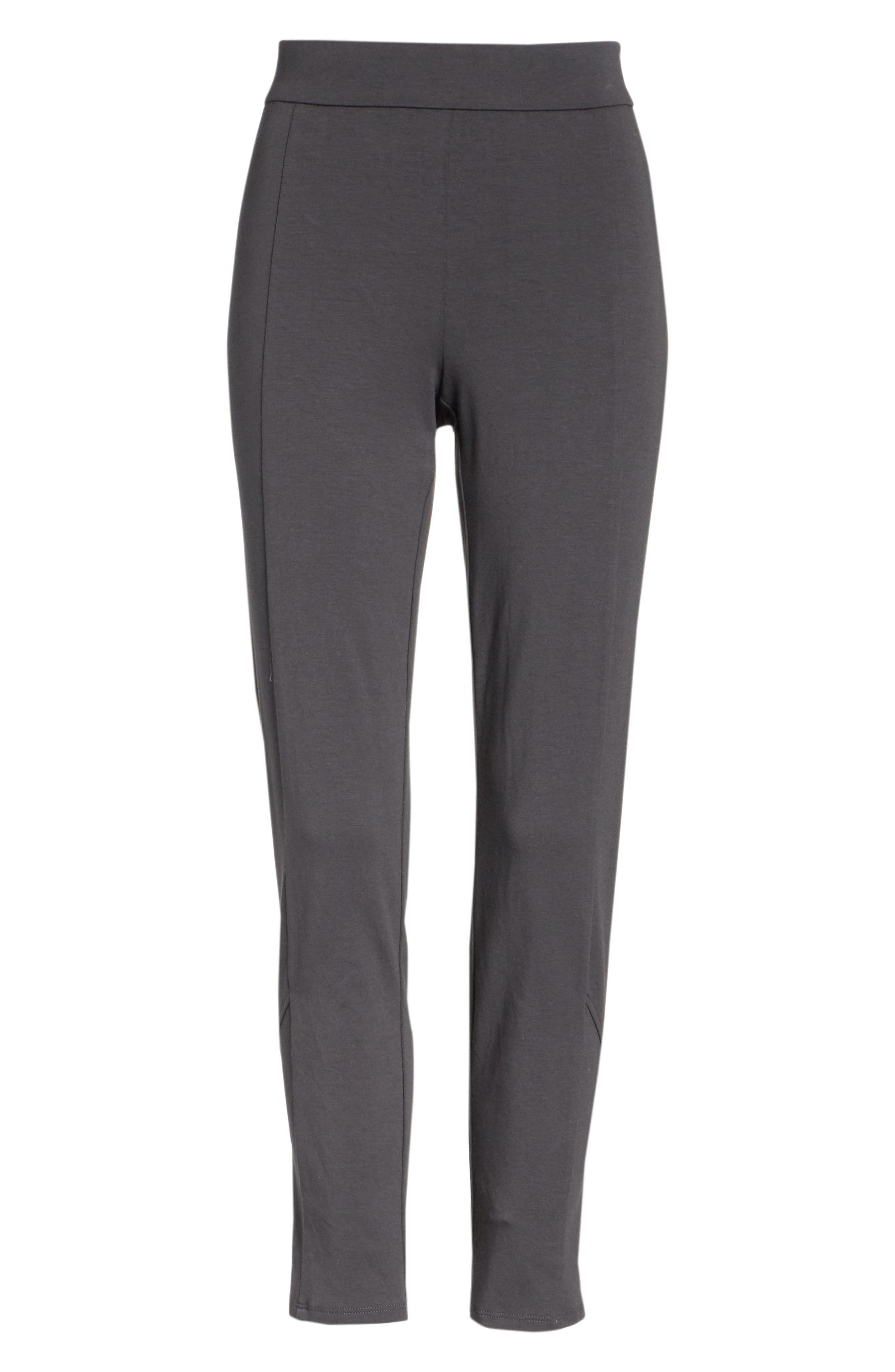 Slim Stretch Cotton Pants,                             Alternate thumbnail 6, color,                             Graphite