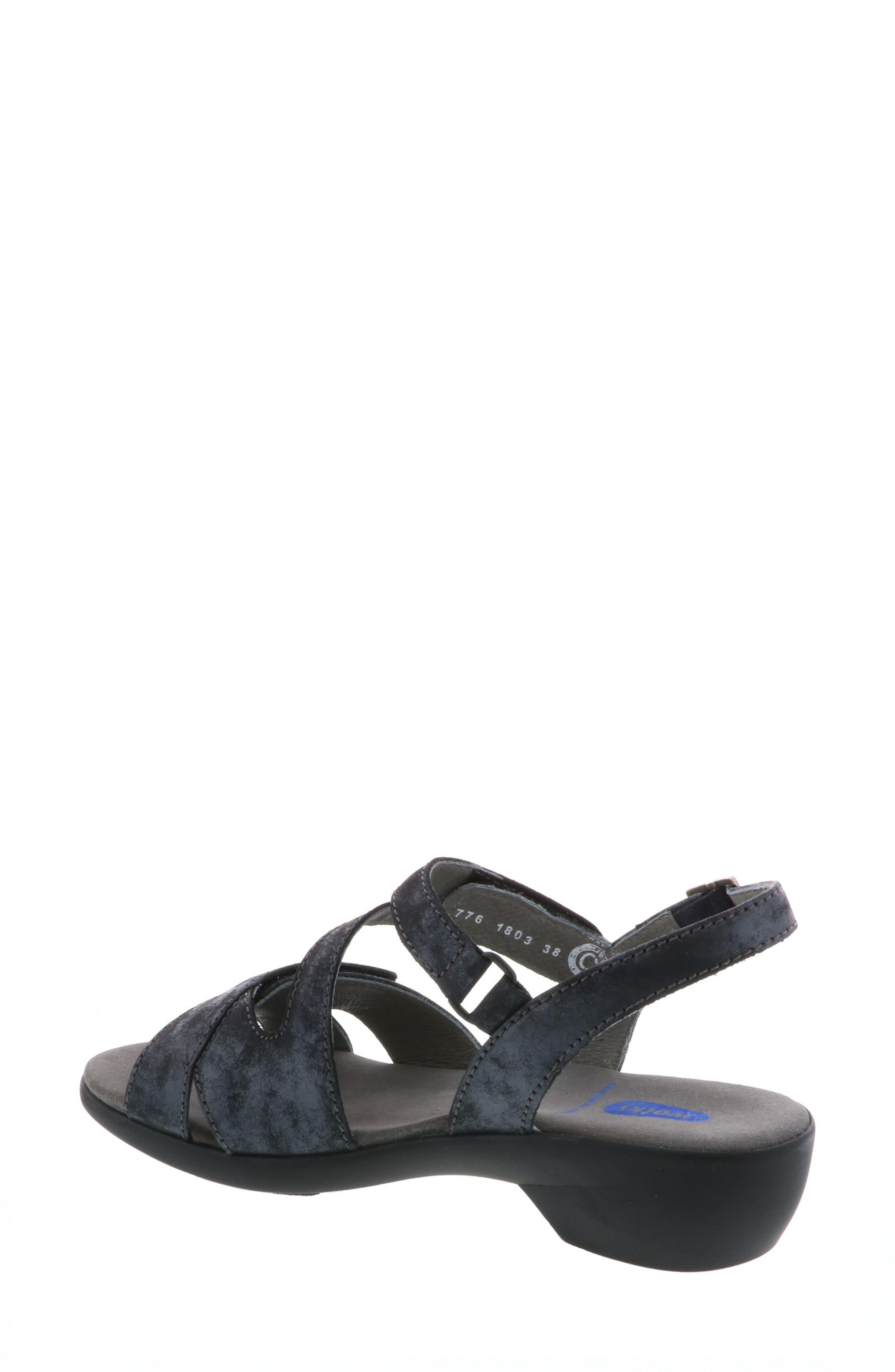 Fria Sandal,                             Alternate thumbnail 2, color,                             Black Nubuck