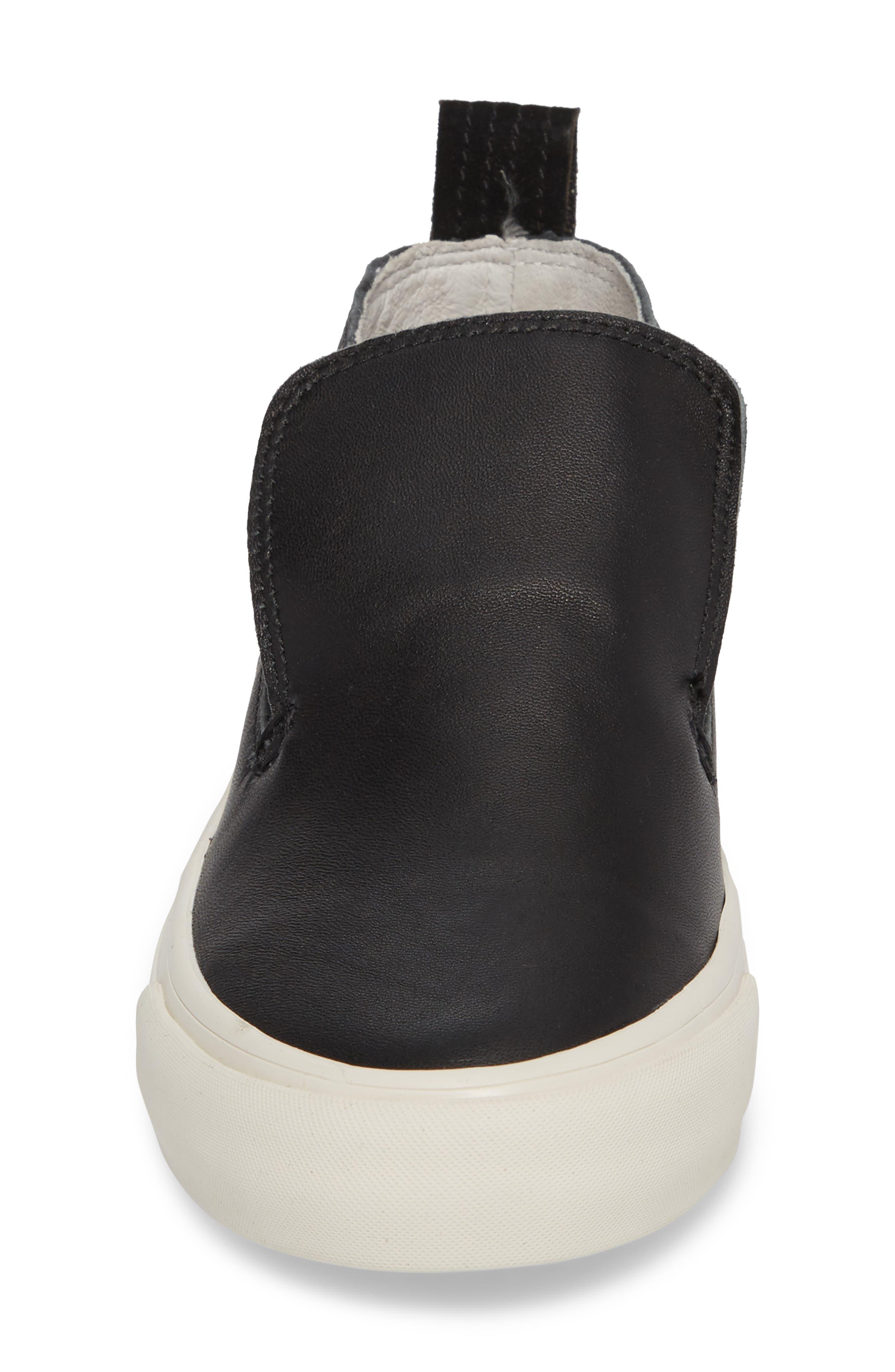 x Derek Lam 10 Crosby Huntington Middie Sneaker,                             Alternate thumbnail 4, color,                             Black Leather