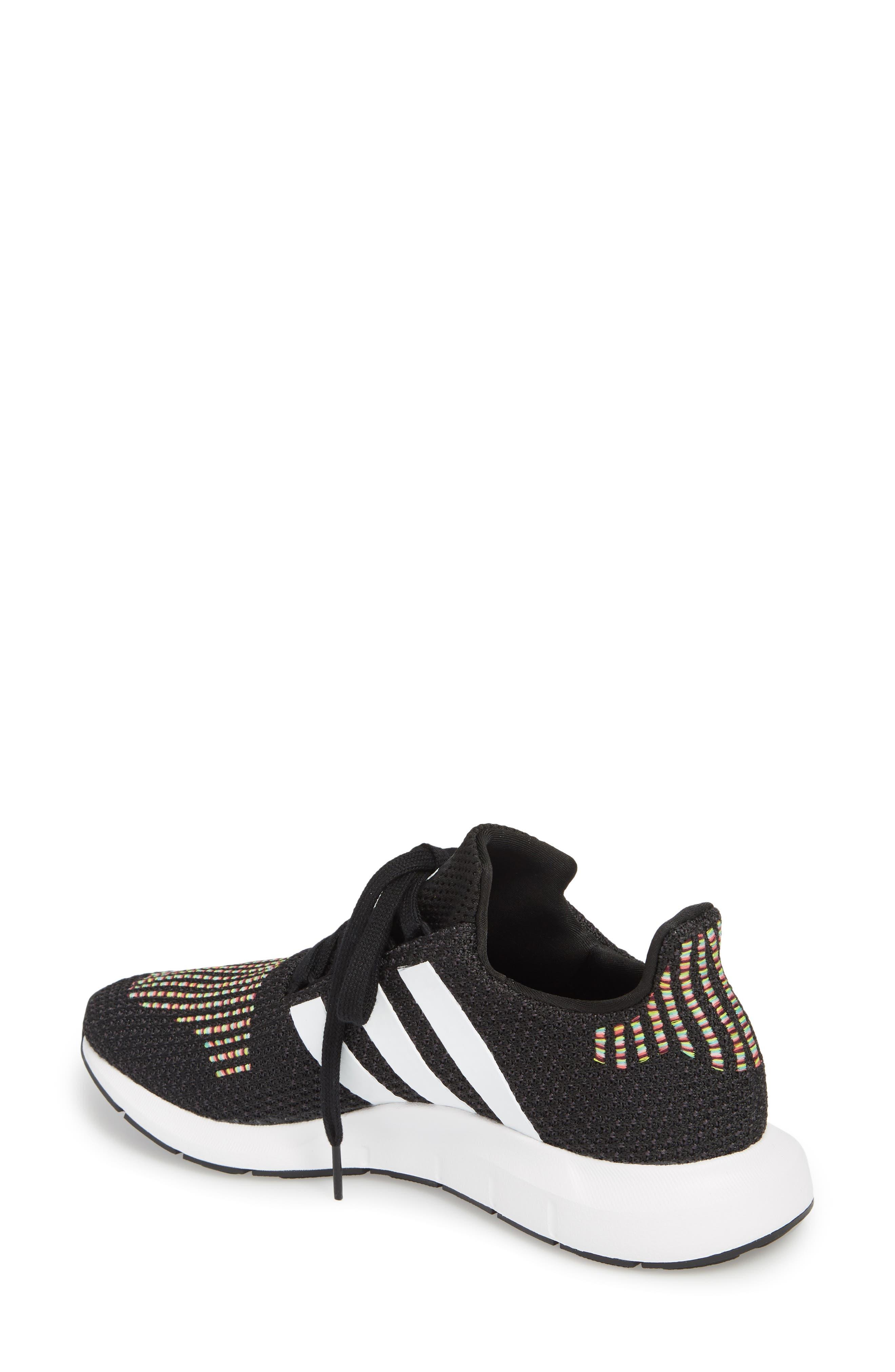 Swift Run Sneaker,                             Alternate thumbnail 2, color,                             Core Black/ White/ Core Black