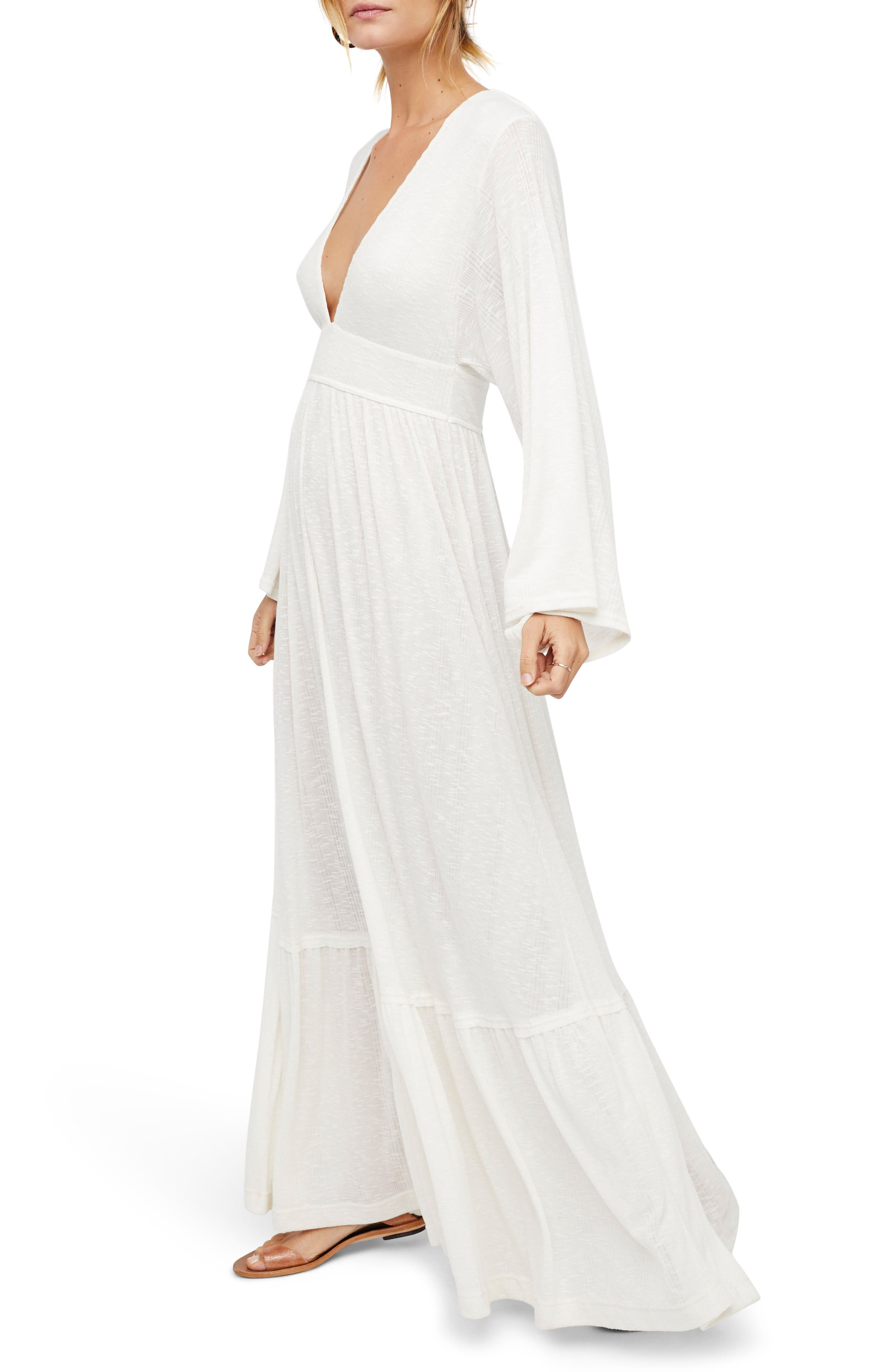 Endless Summer by Free People Moon Walking Maxi Dress,                             Main thumbnail 1, color,                             Ivory