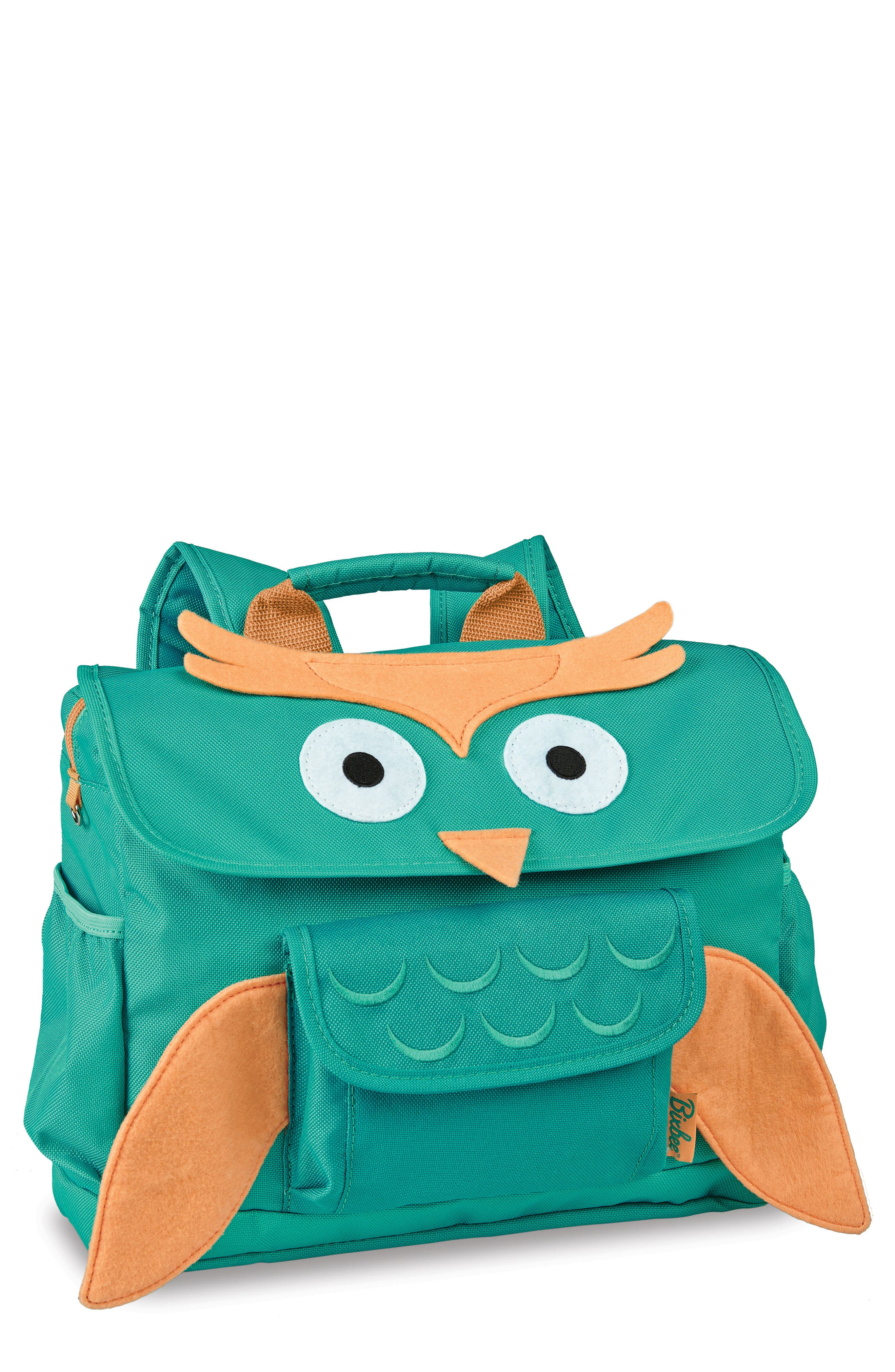 Animal Pack – Owl Backpack,                             Main thumbnail 1, color,                             Teal
