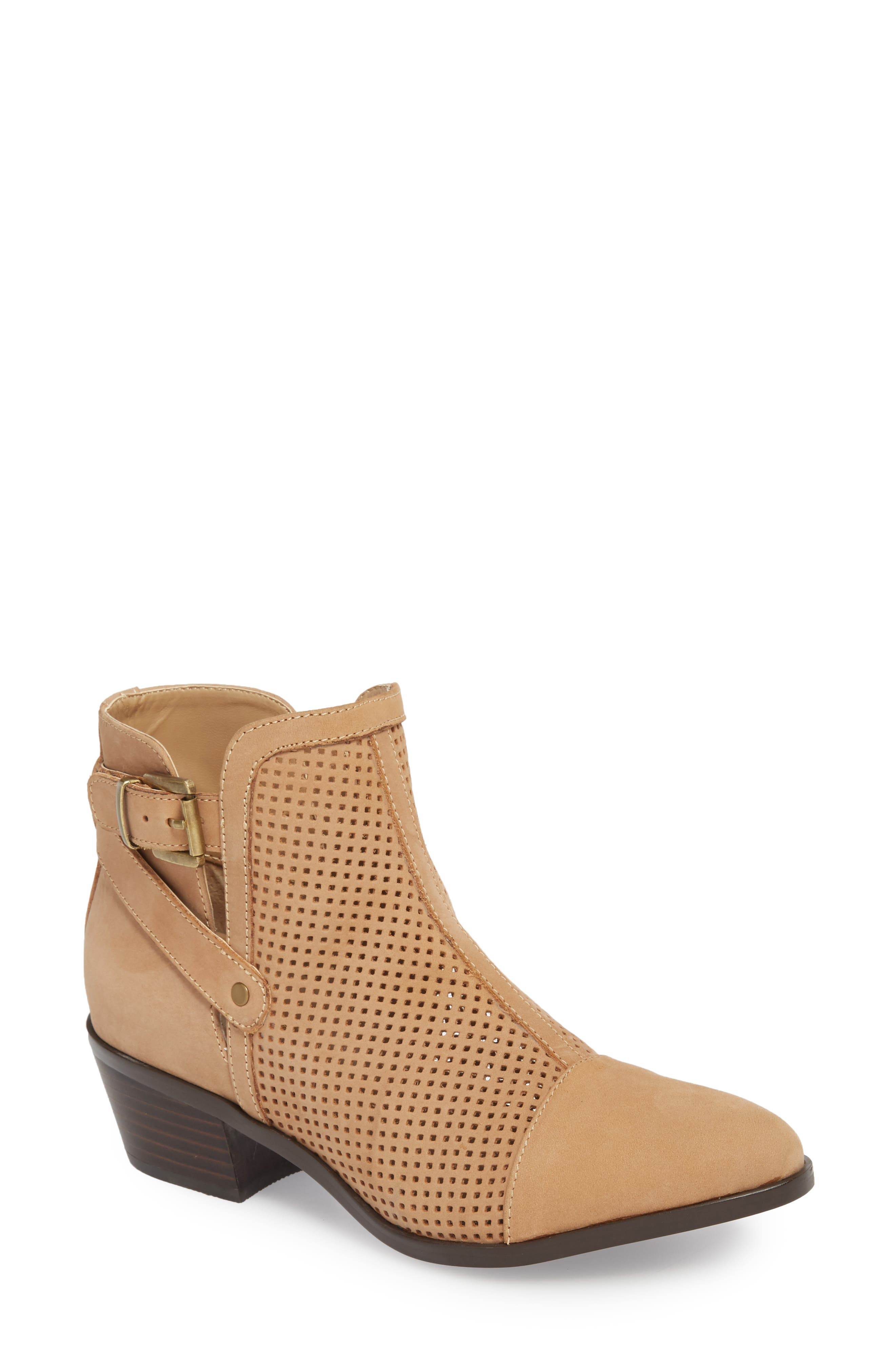 Prize Bootie,                             Main thumbnail 1, color,                             Taupe Nubuck