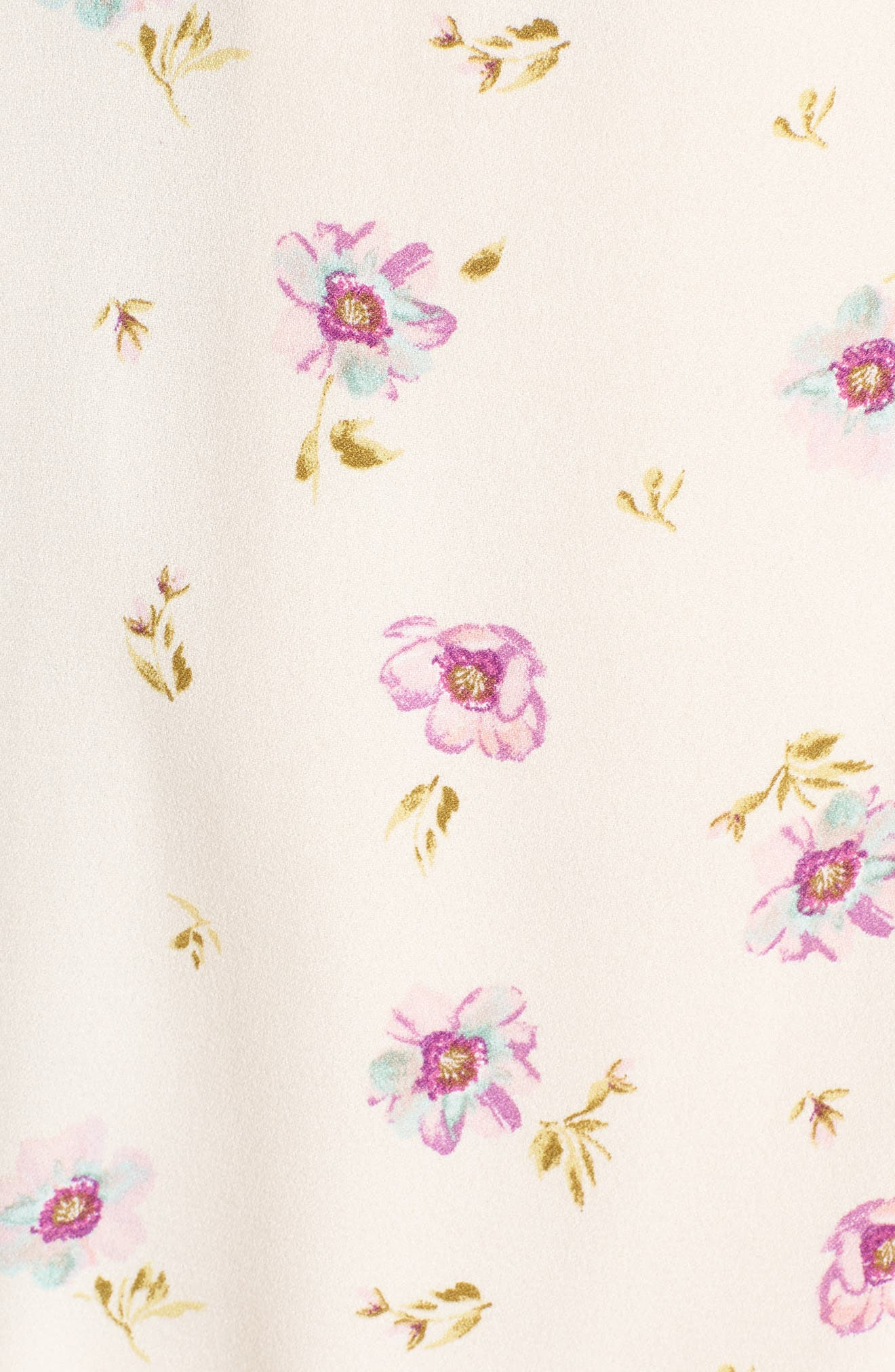 Rosa Wrap Maxi Dress,                             Alternate thumbnail 6, color,                             Lilac Floral