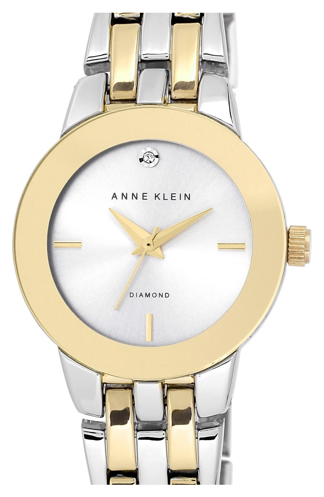 ANNE KLEIN Diamond Accent Bracelet Watch, 30mm