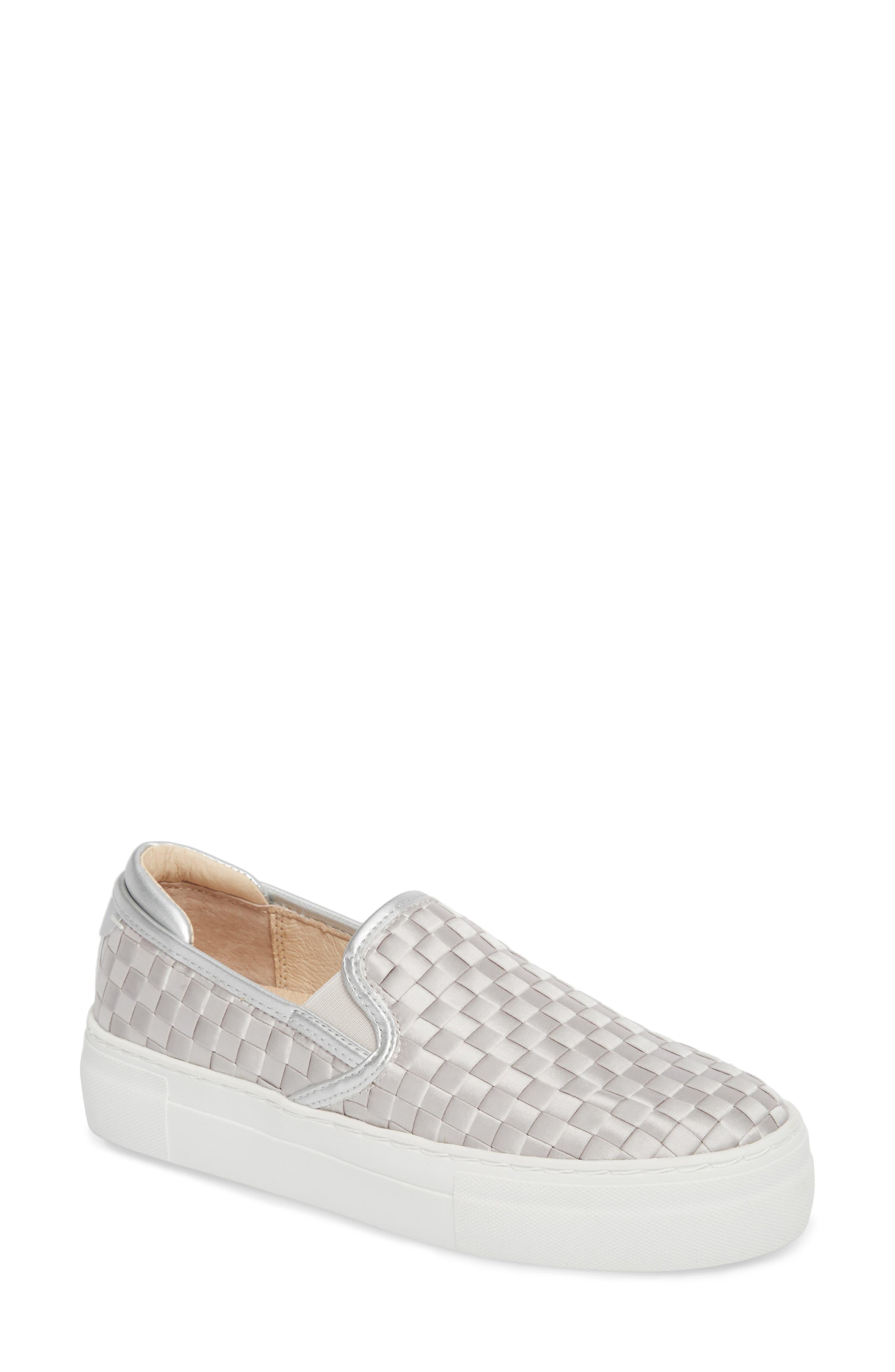 Monte Woven Slip-On Sneaker,                         Main,                         color, Silver Satin