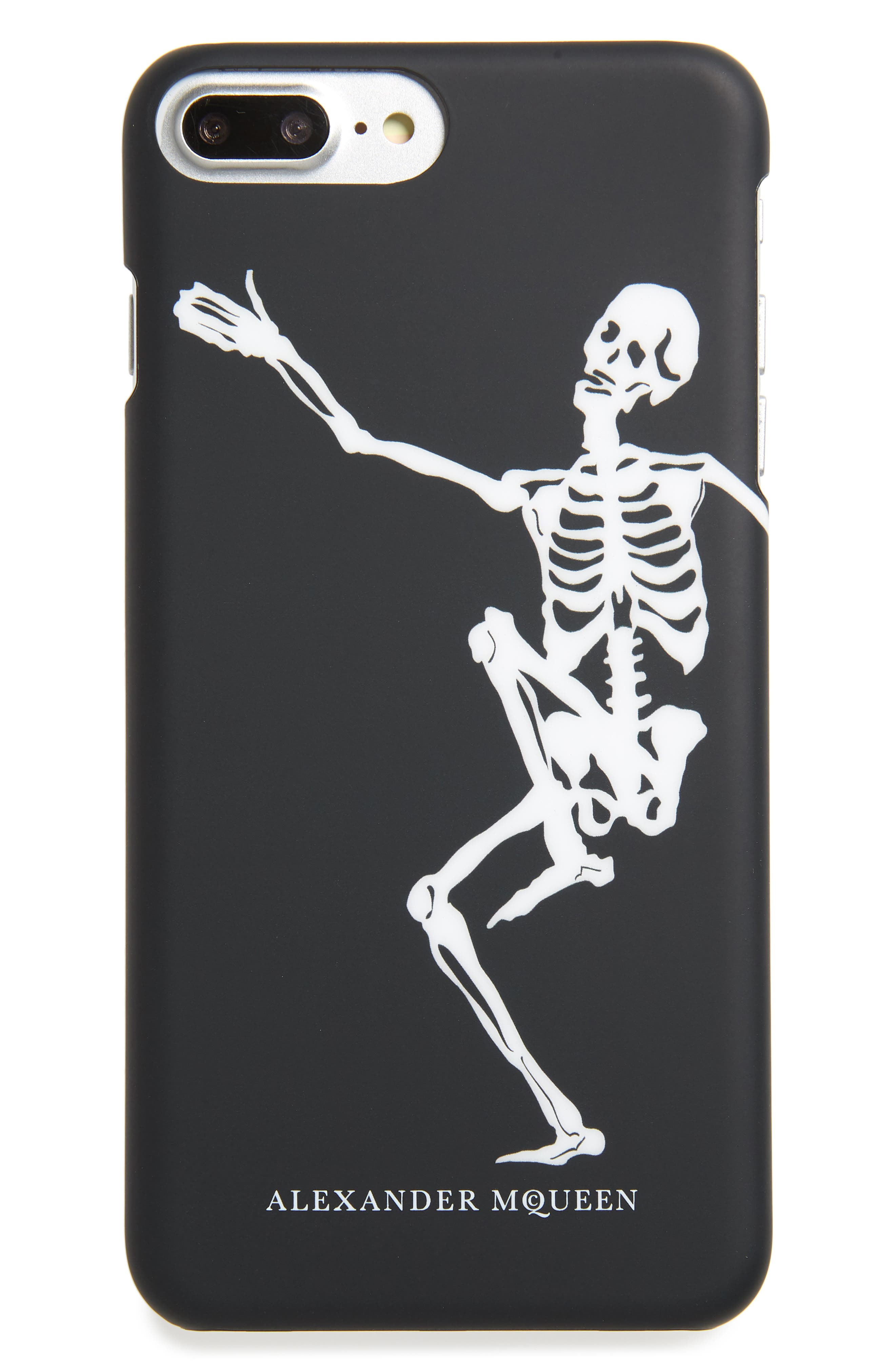 Dancing Skeleton iPhone 8 Plus Case,                             Main thumbnail 1, color,                             Black