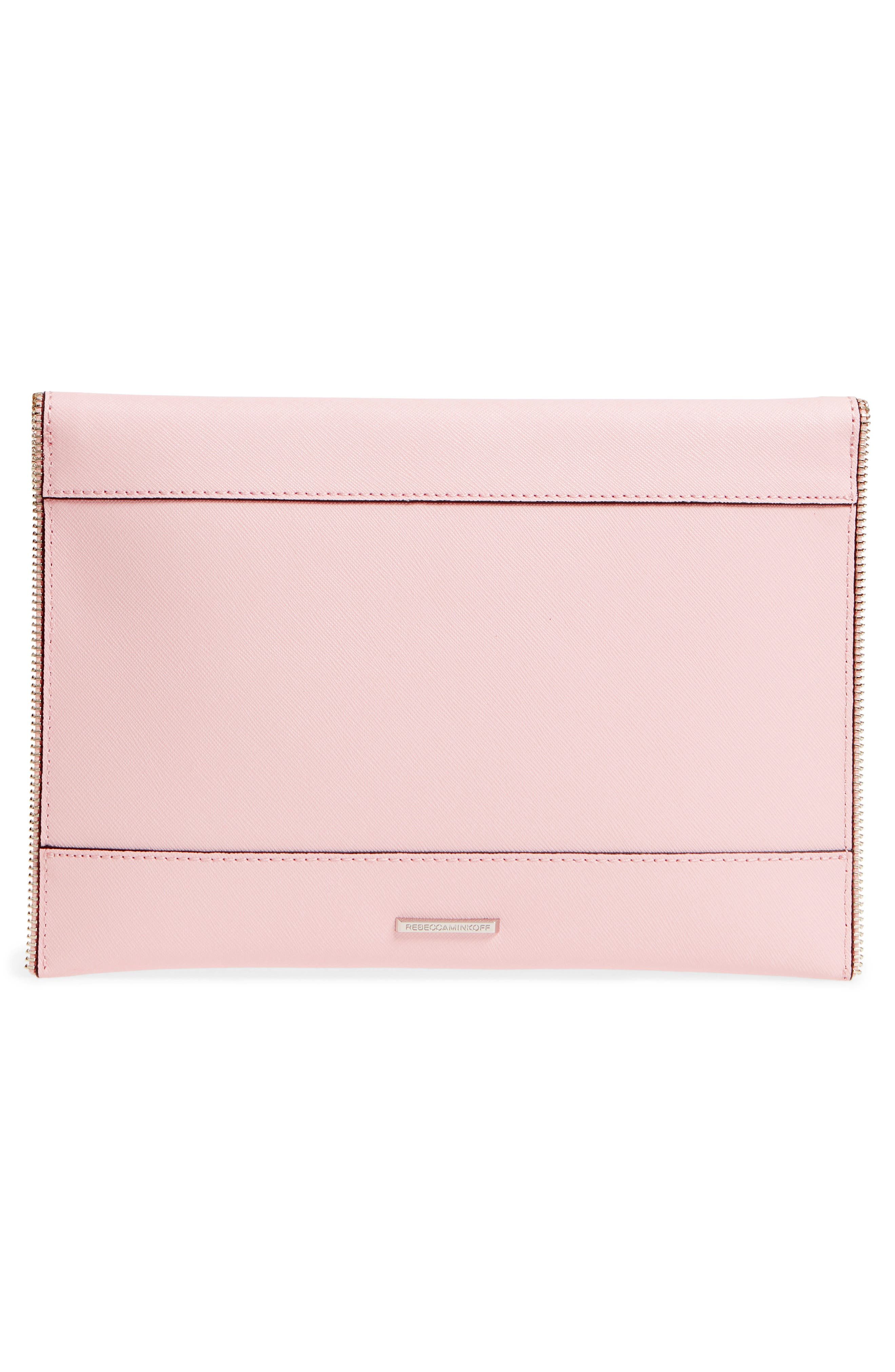 Leo Envelope Clutch,                             Alternate thumbnail 3, color,                             Peony