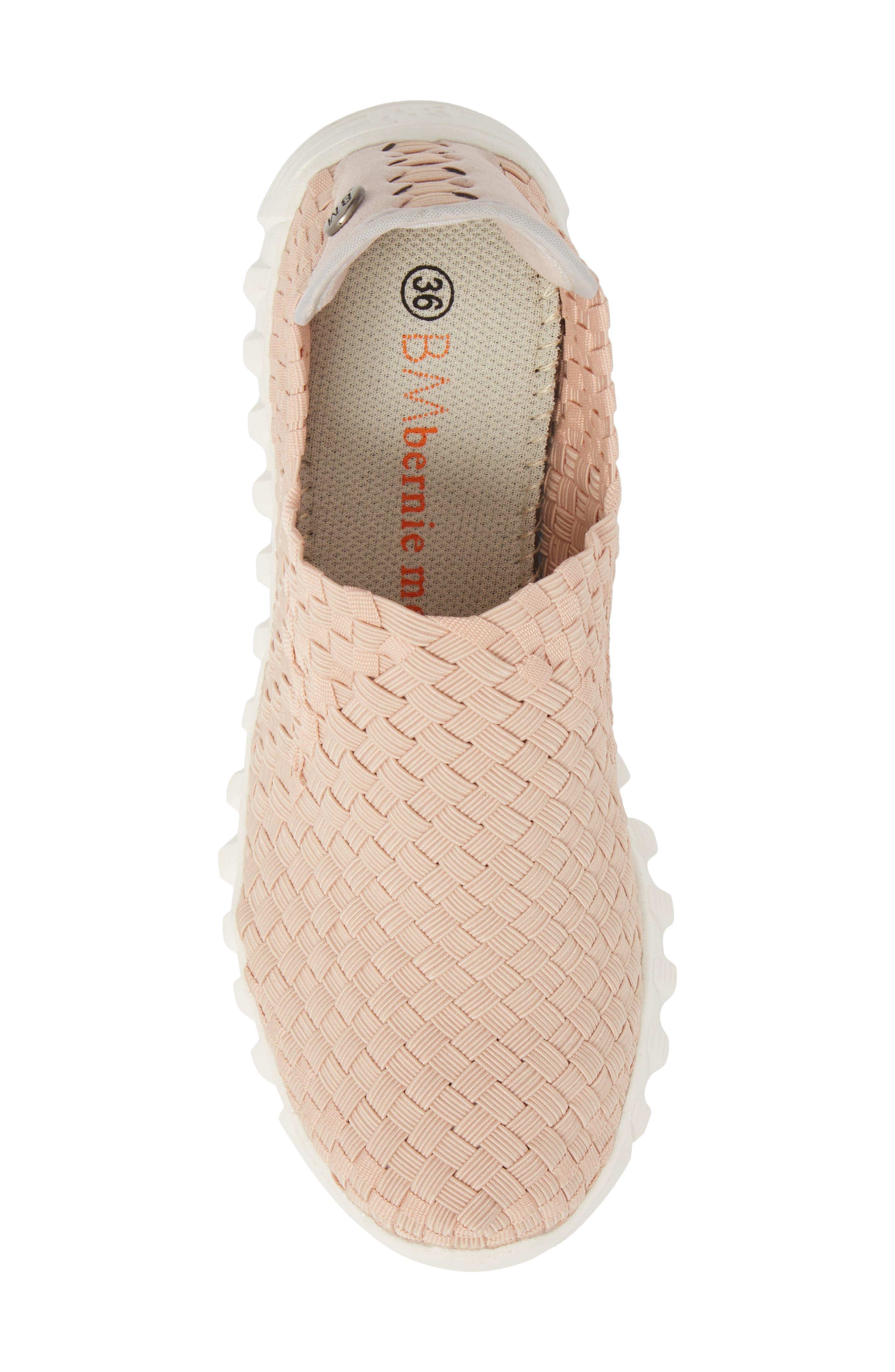 Woven Slip-On Sneaker,                             Alternate thumbnail 5, color,                             Blush Fabric