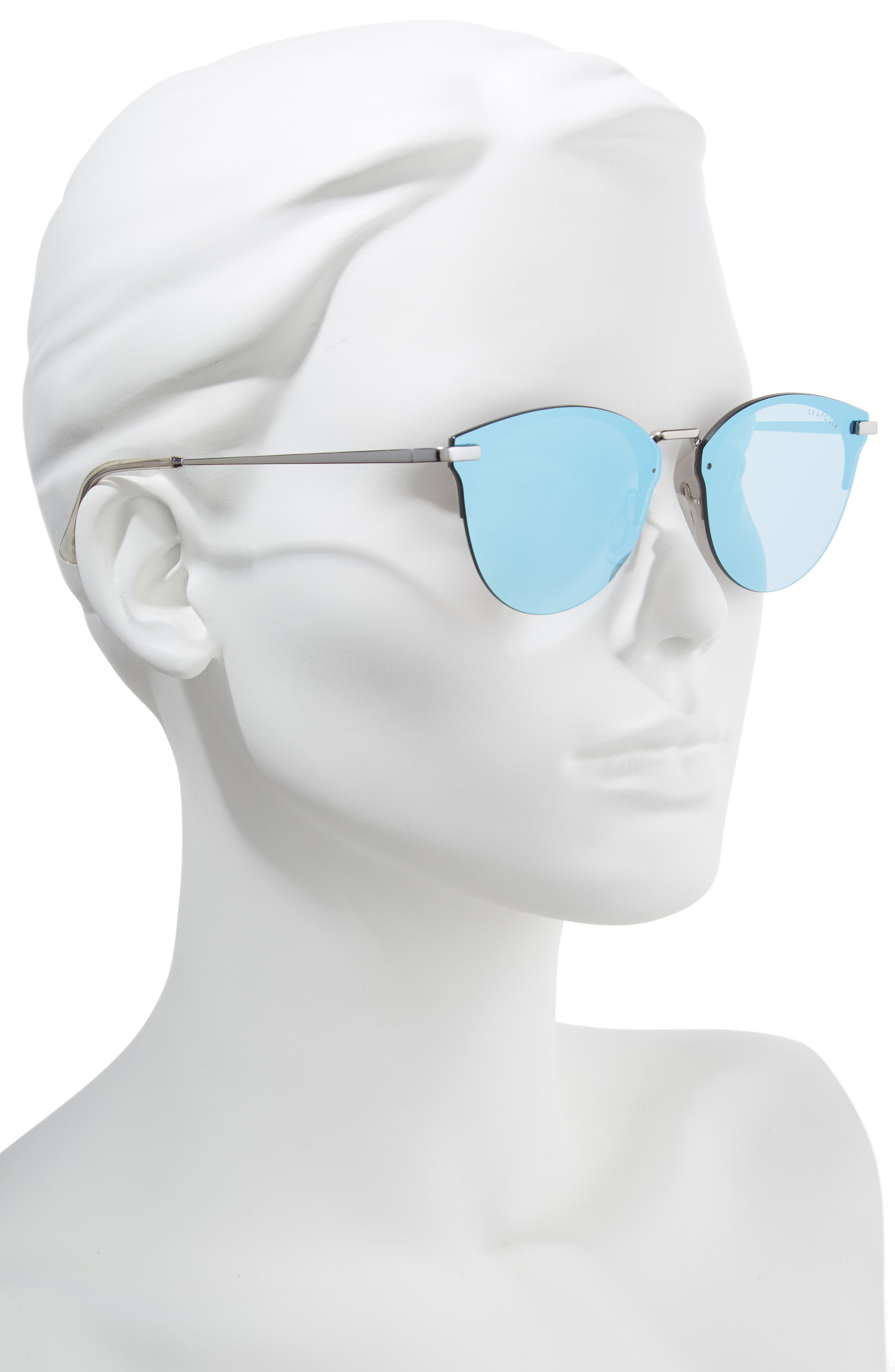 Wylies 50mm Rimless Sunglasses,                             Alternate thumbnail 2, color,                             Ocean