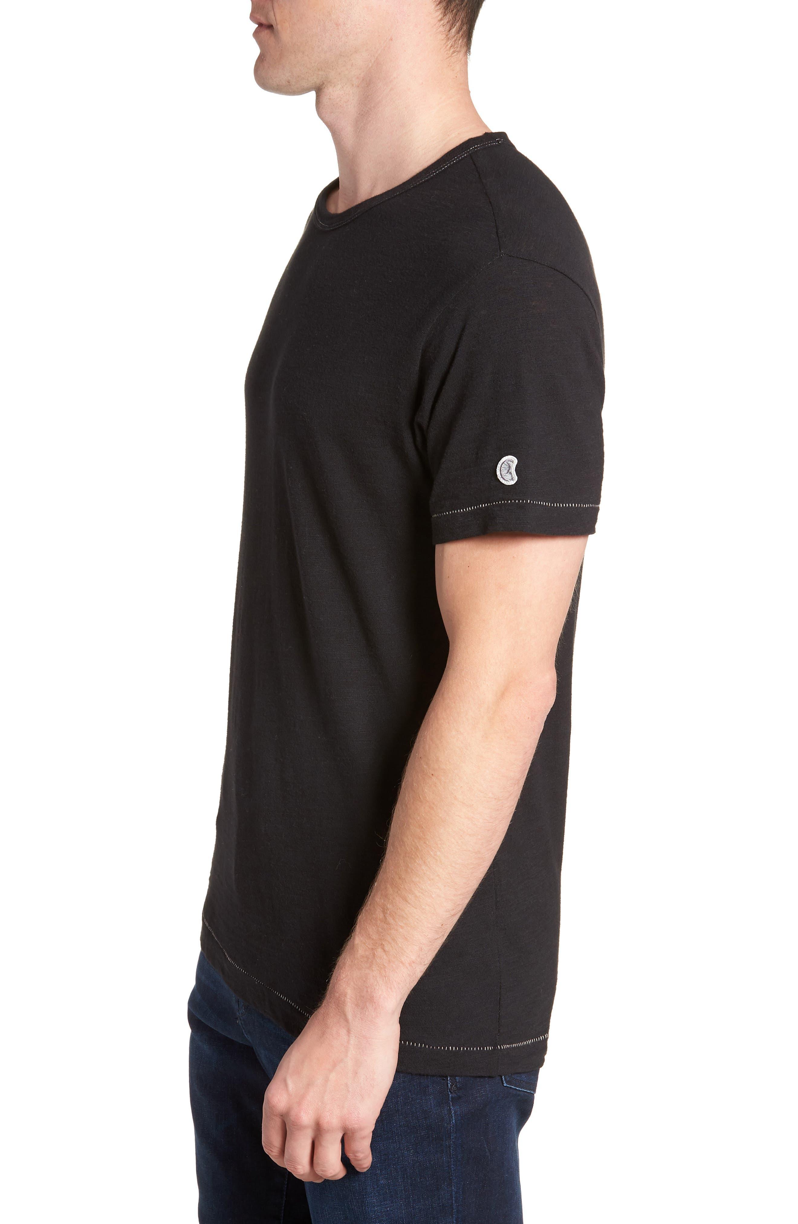 + Champion T-Shirt,                             Alternate thumbnail 3, color,                             Black