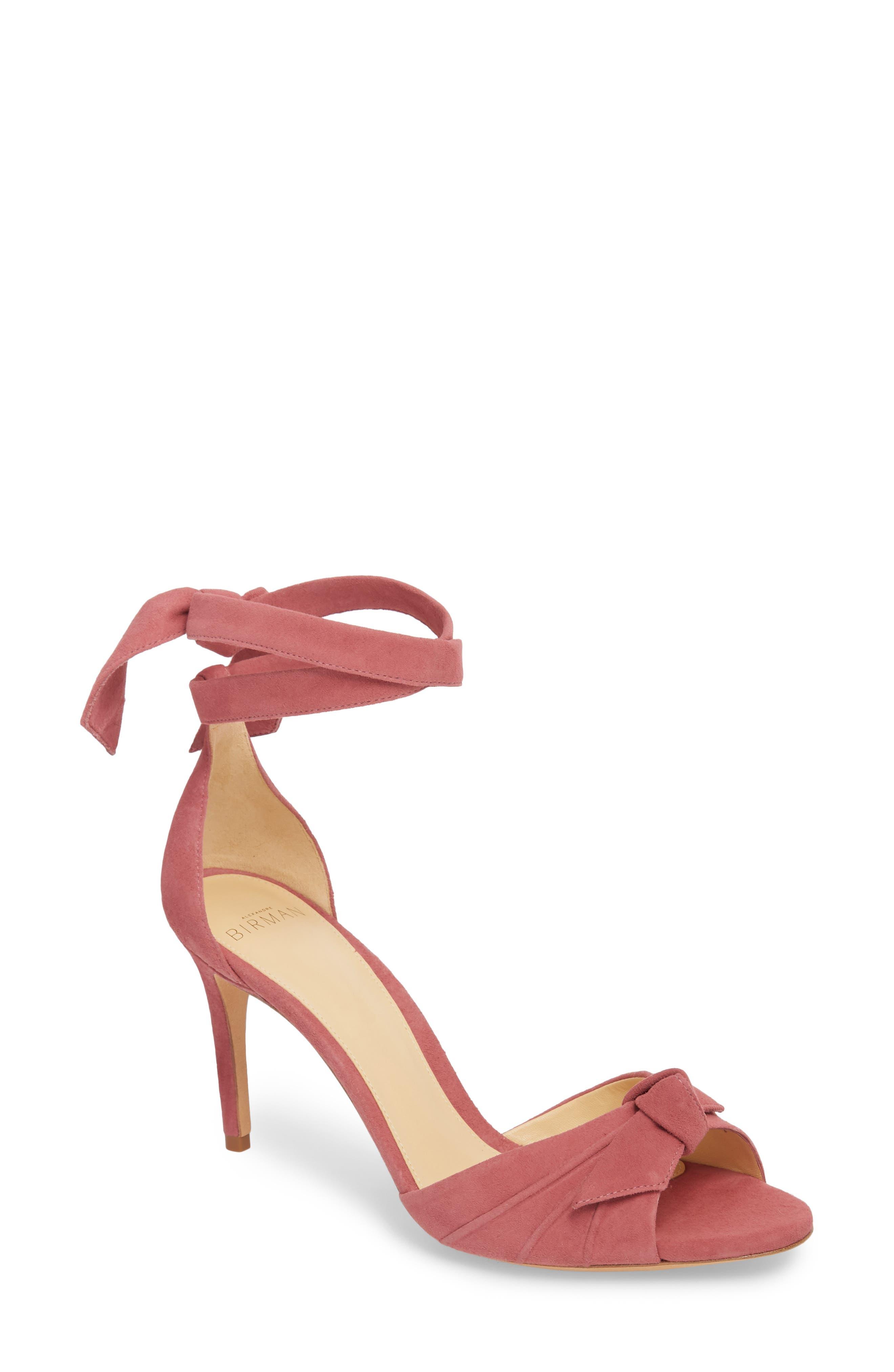 Clarita Ankle Tie Sandal,                             Main thumbnail 1, color,                             Dusty Rose